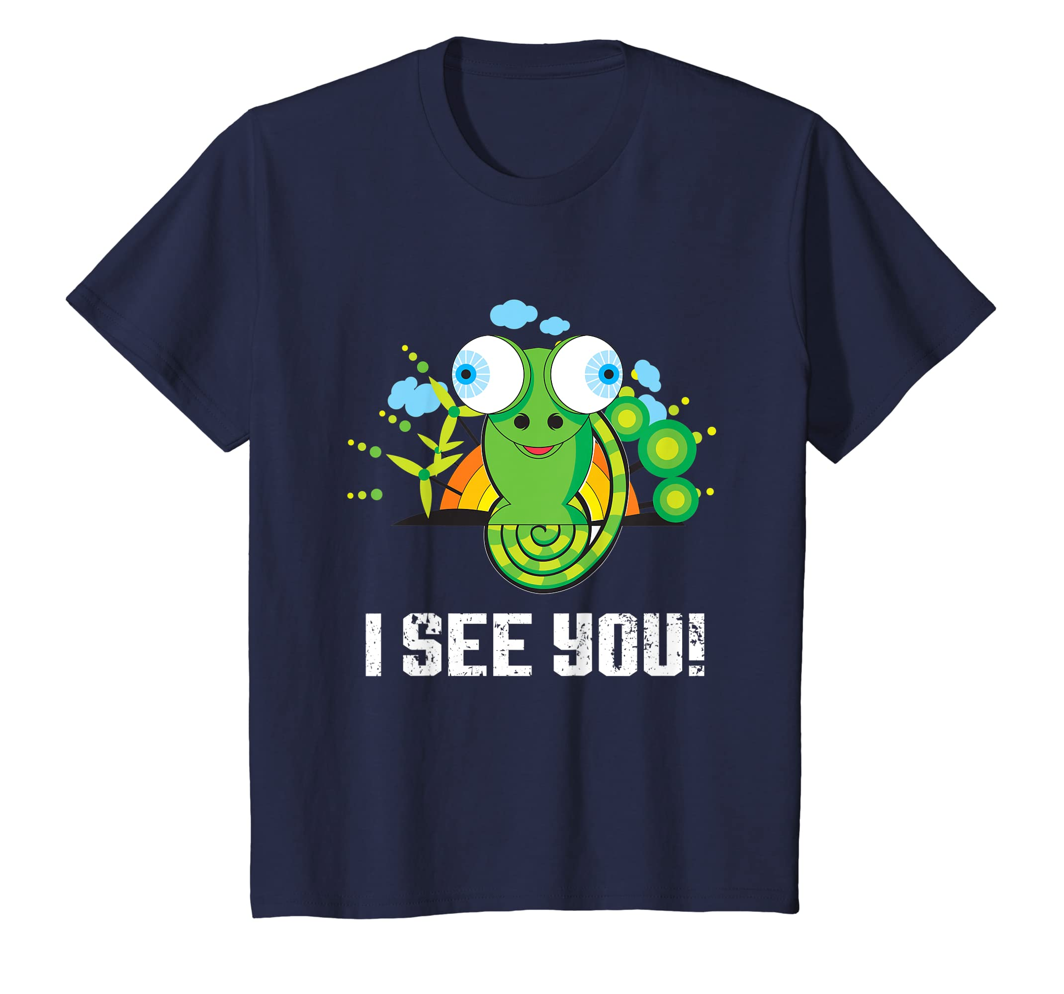 84fdc28ef4a Amazon.com  Funny Chameleon T-Shirt I See You Reptile Chameleon Tee Gift   Clothing