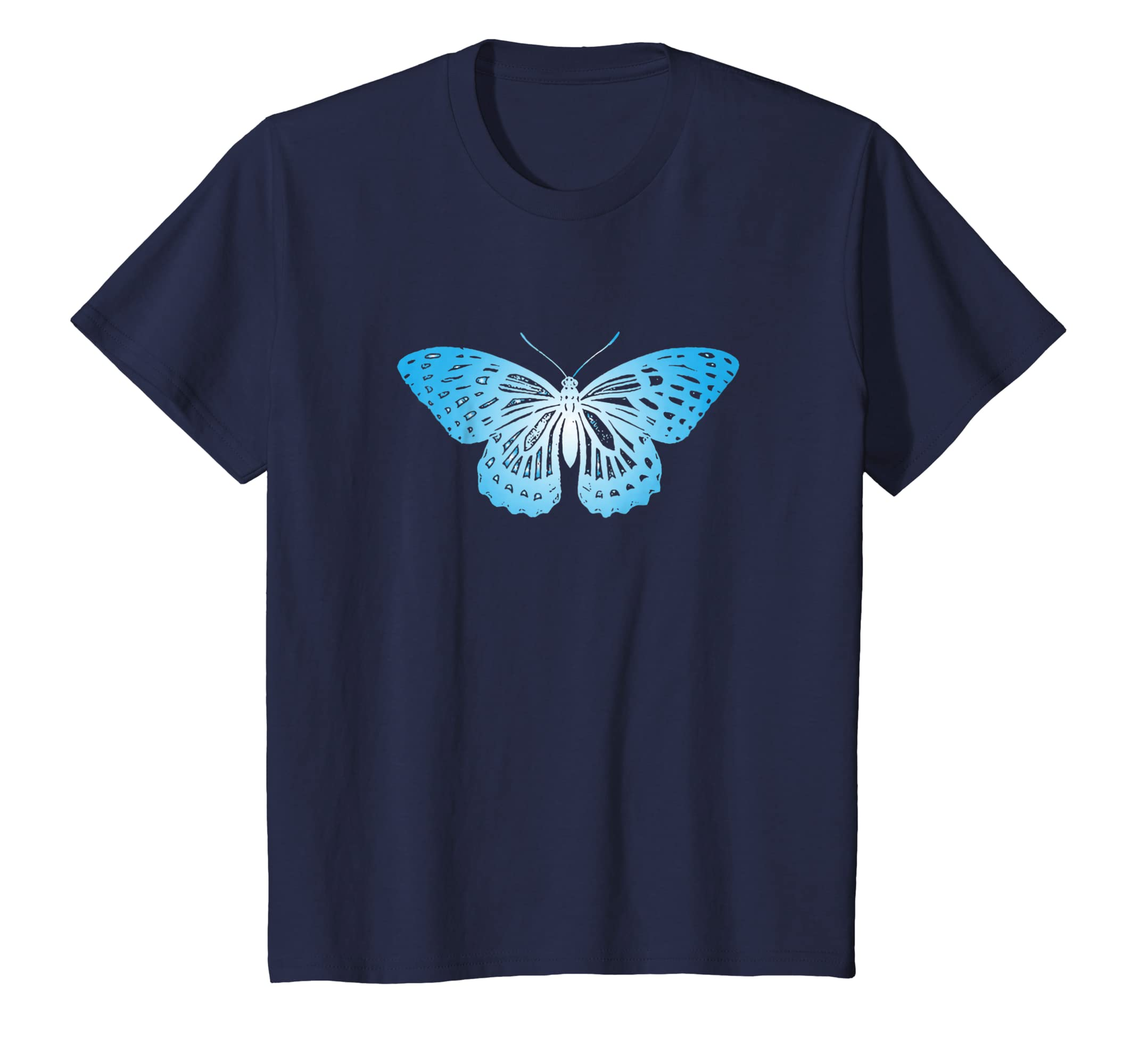 6482d5853999 Amazon.com  Blue Butterfly T-Shirt For Nature Lovers  Clothing
