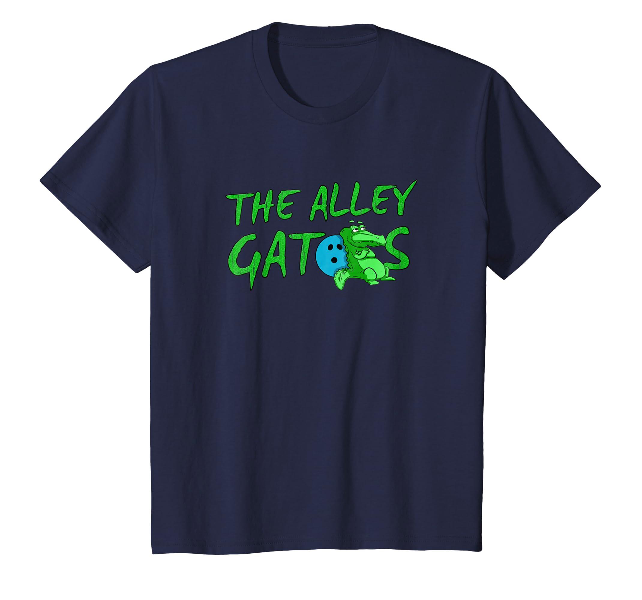 Alley Gator Funny Bowling T Shirt