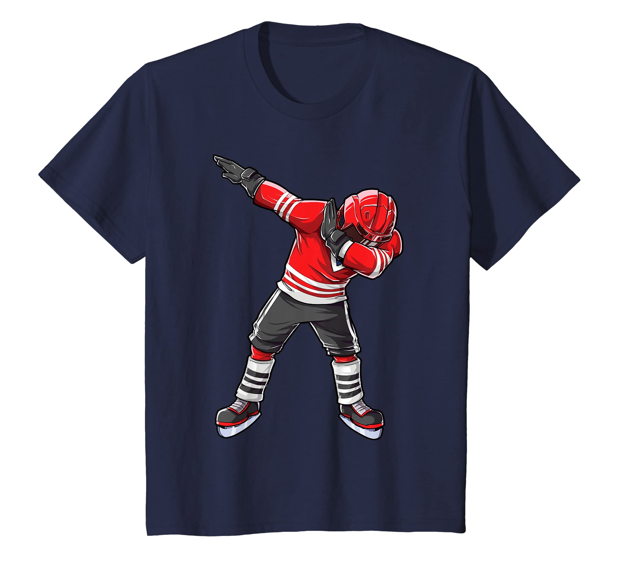 Amazon.com  Dabbing Ice Hockey T Shirt Boys Men Kids Dab Squad Gifts Tee   Clothing ffbd4bb1c6a