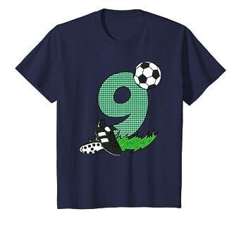 Kinder Geburtstagsshirt 9 Jahre Fussball T Shirt 9