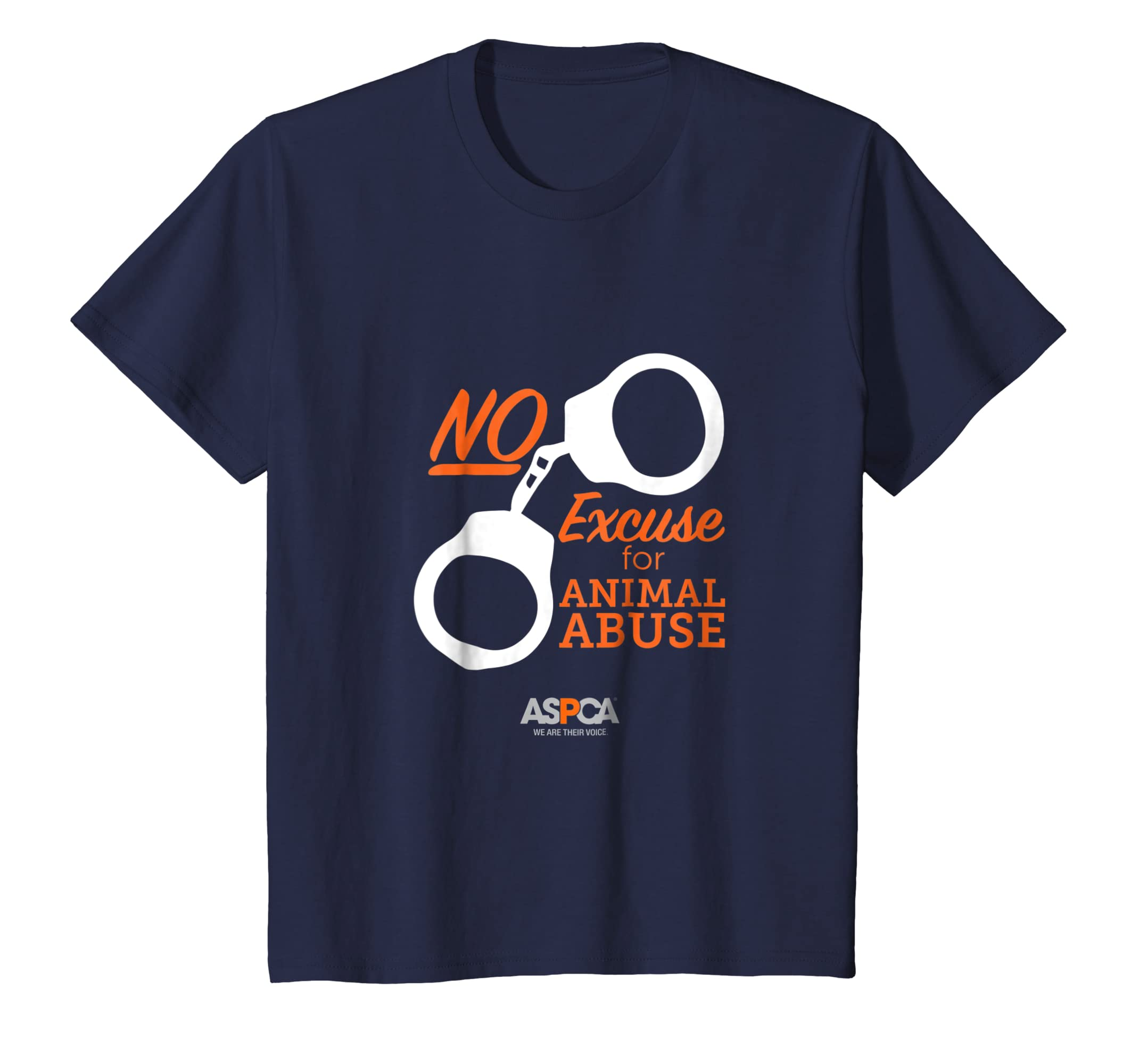 b7f9829966 Amazon.com  ASPCA No Excuse for Animal Abuse T-Shirt Dark  Clothing