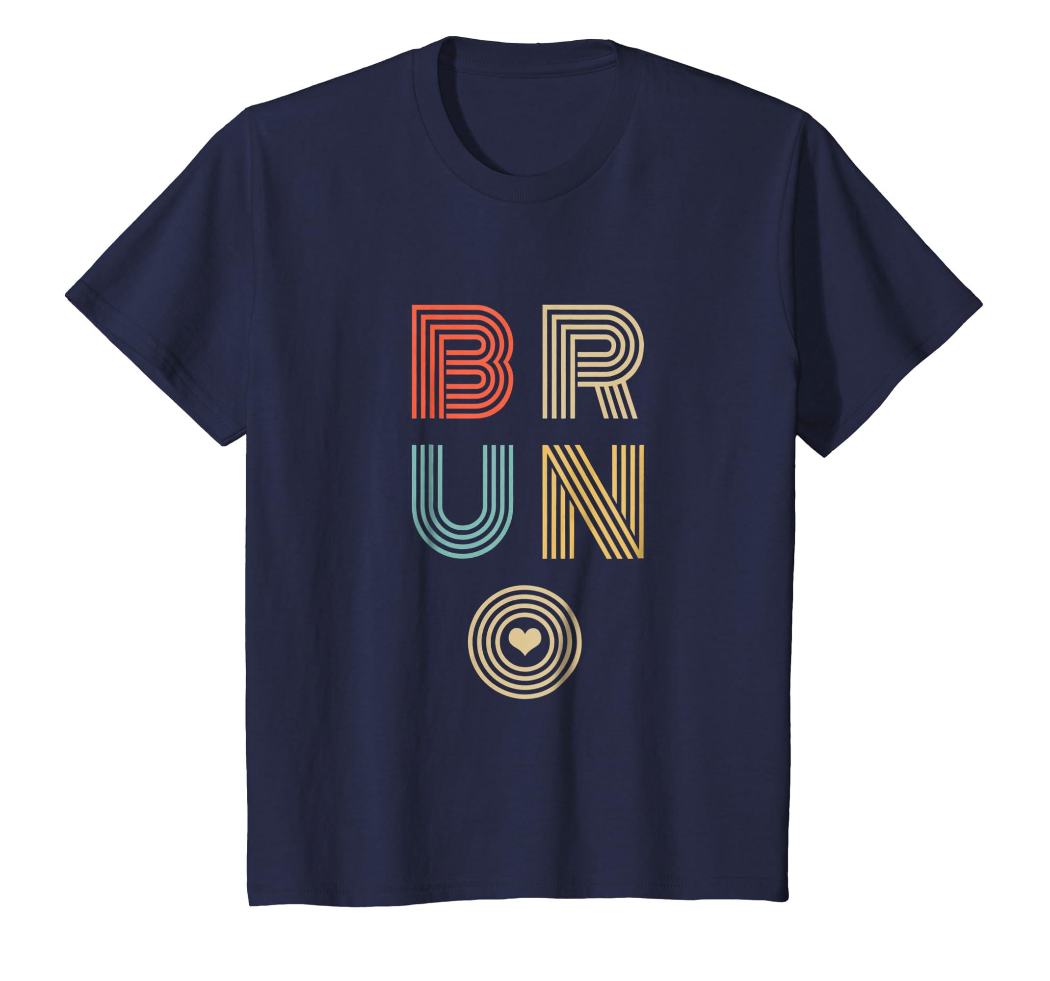 Bruno Lover Heart T Shirt Vintage Retro Style-Teechatpro