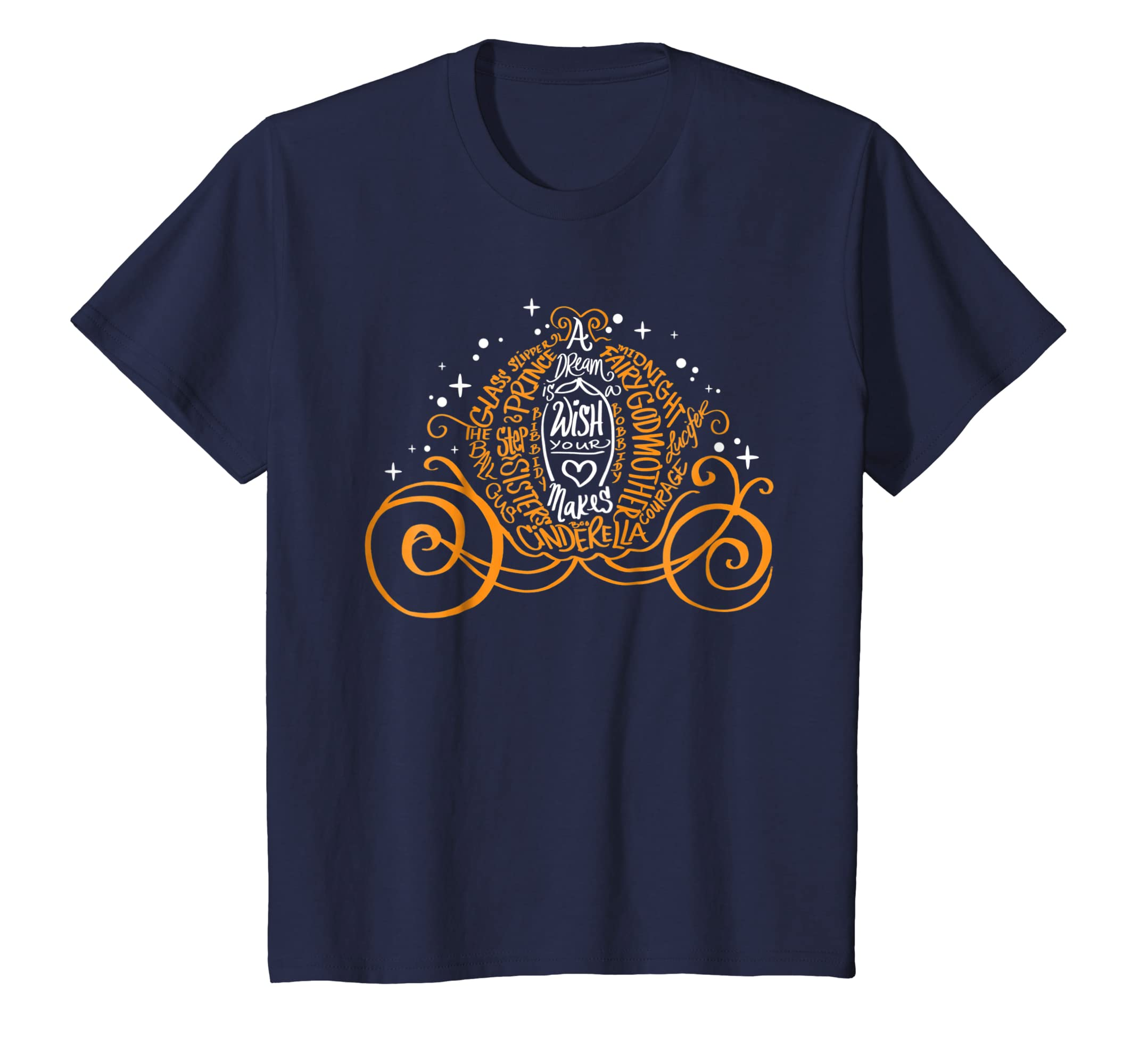 7528b475 Amazon.com: Disney Cinderella Halloween Pumpkin Coach Graphic T-Shirt:  Clothing