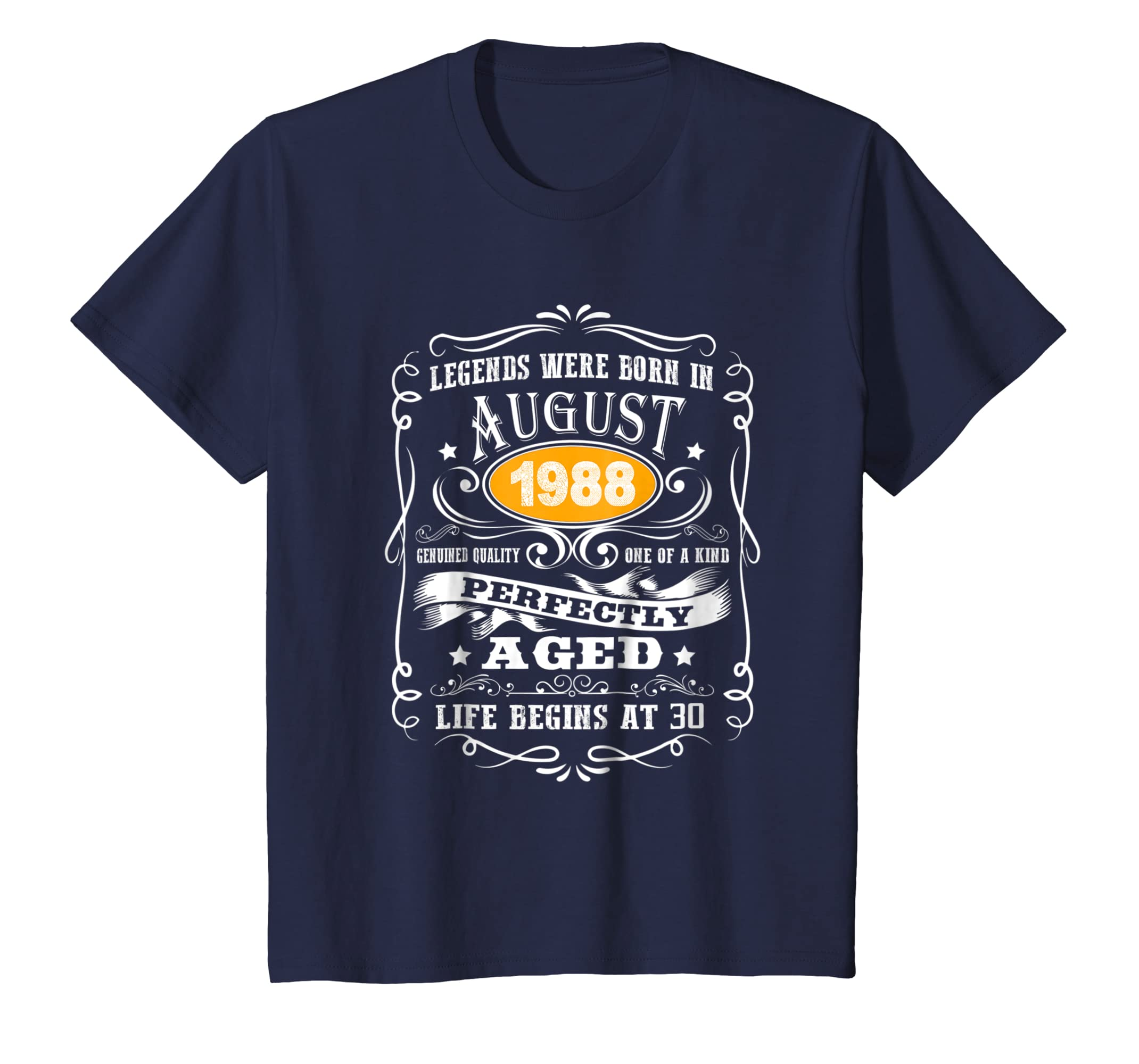 August 1988 30th Birthday Gift 30 Year Old For Men Women Tee-Awarplus