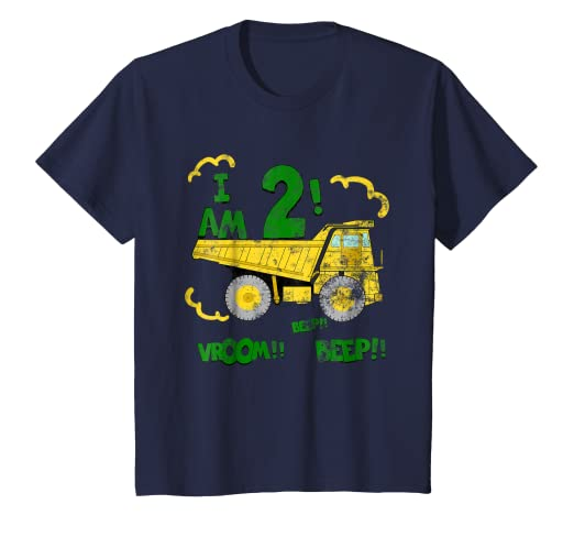Amazon Kids 2nd Birthday Dump Truck T Shirt Boys 2 Year
