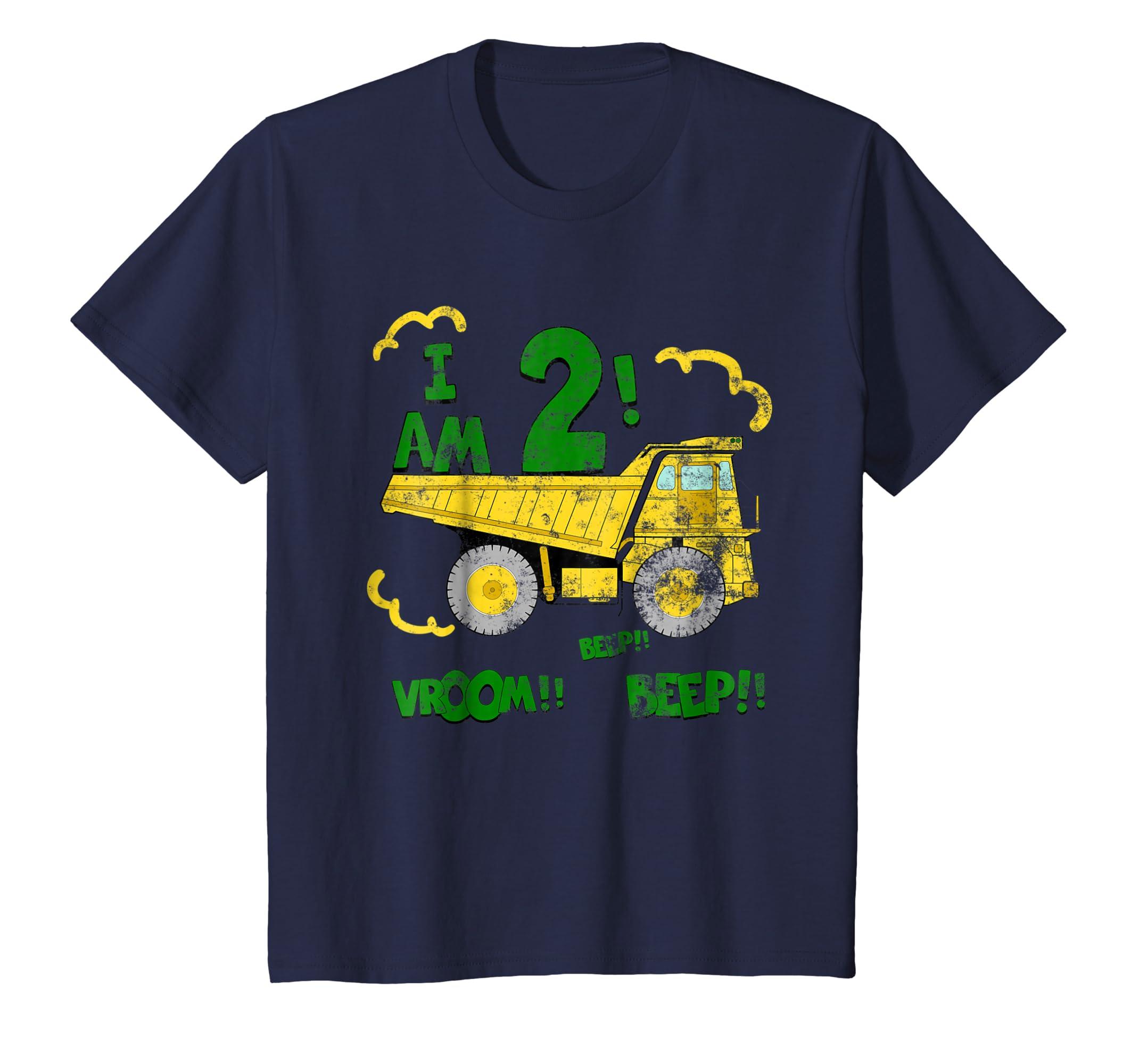 Amazon Kids 2nd Birthday Dump Truck T Shirt Boys 2 Year Tee Clothing