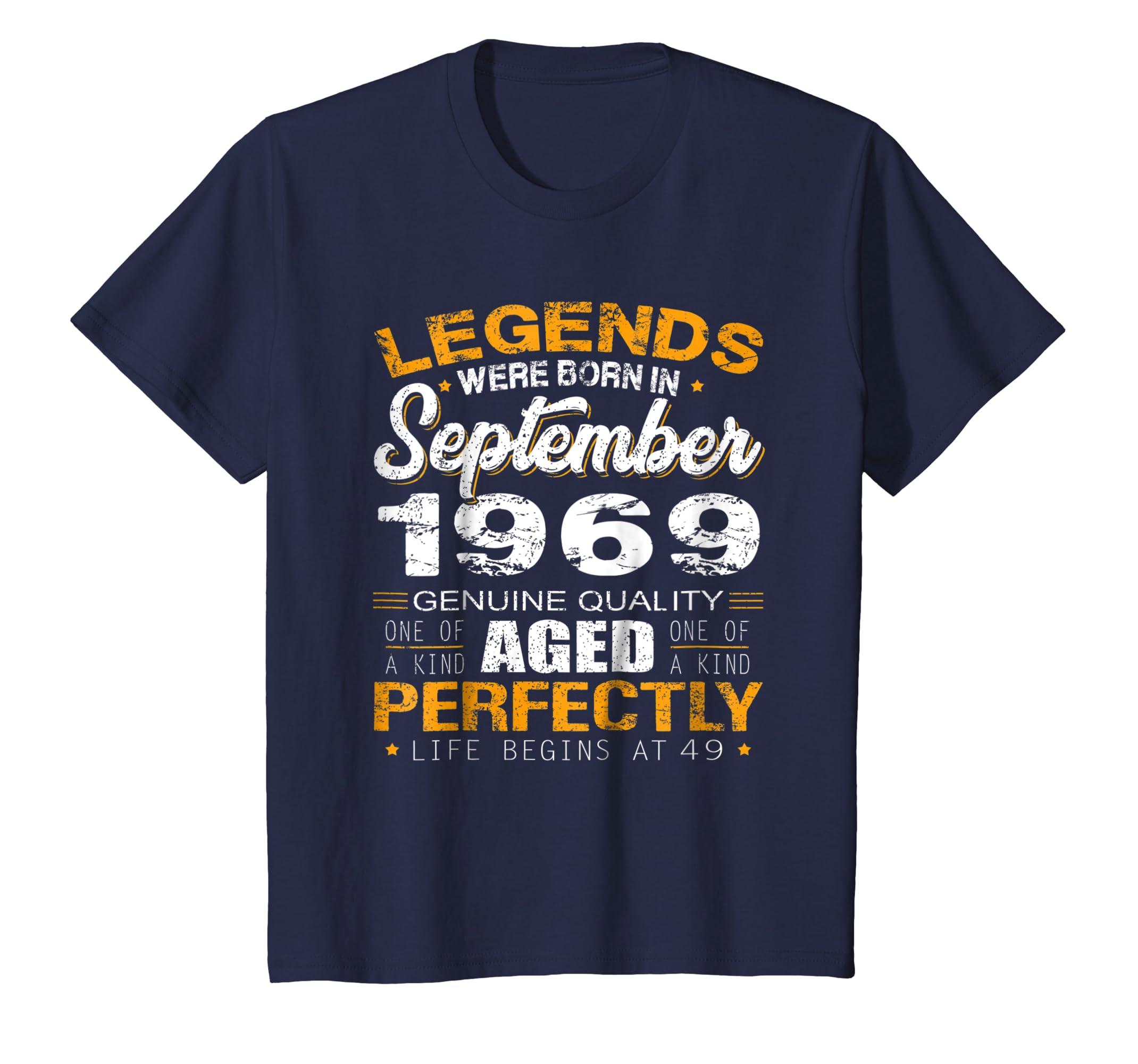 49th Birthday Gifts TShirt Vintage Legends Were Born In 1969-Awarplus