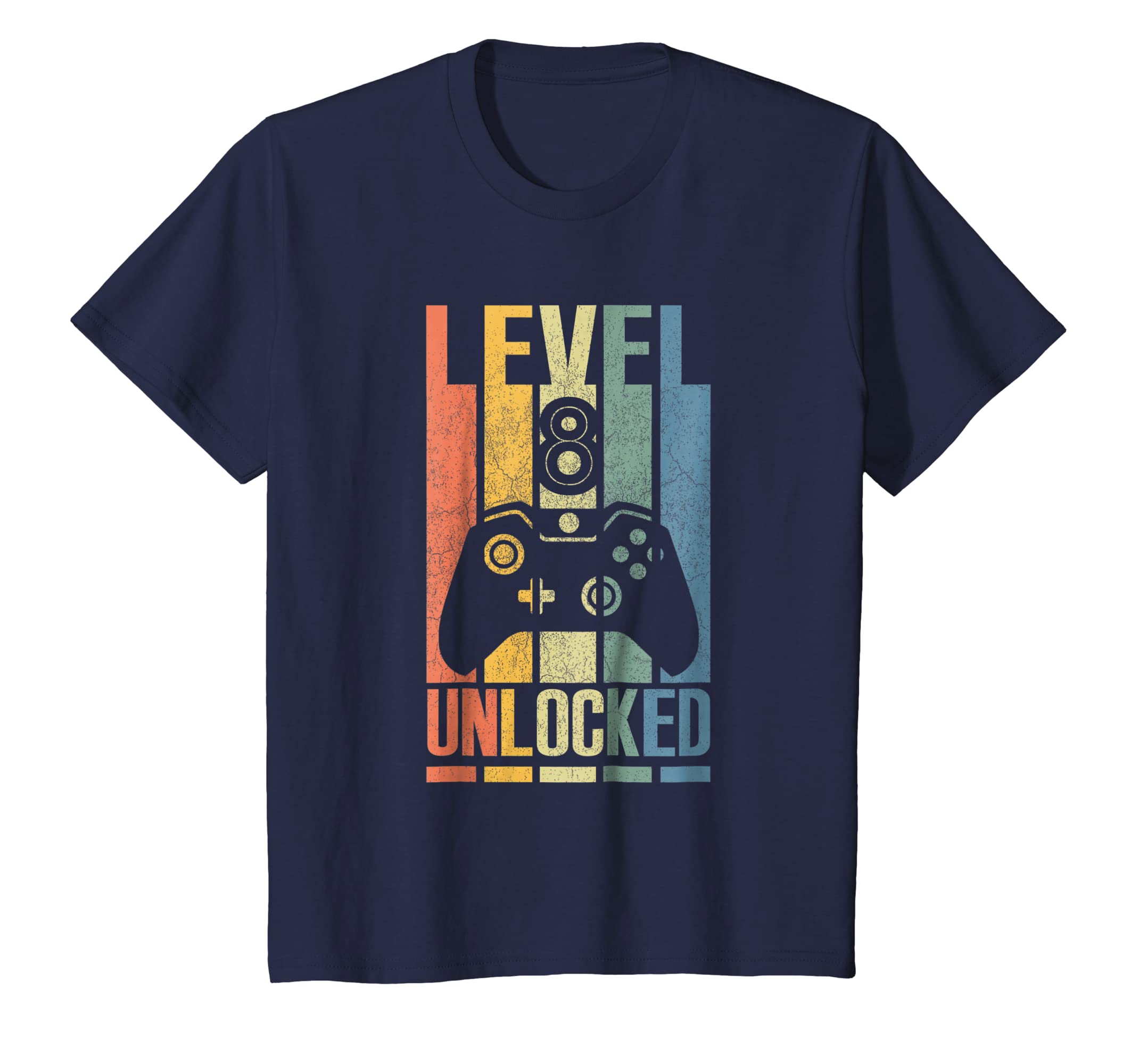 Kids Level 8 Unlocked Shirt Funny Video Gamer 8th Birthday Gift-Newstyleth