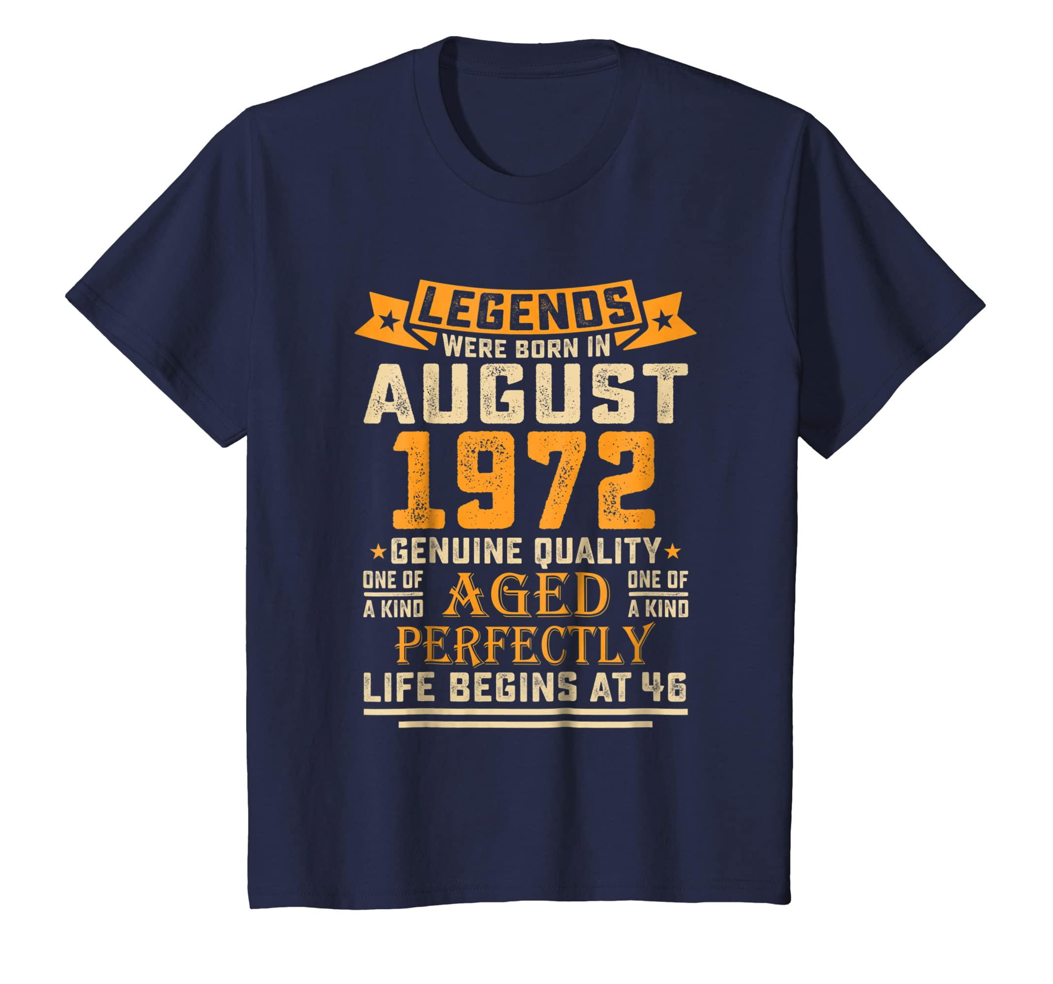 46th Birthday Gifts TShirt Vintage Legends Were Born In 1972-Awarplus