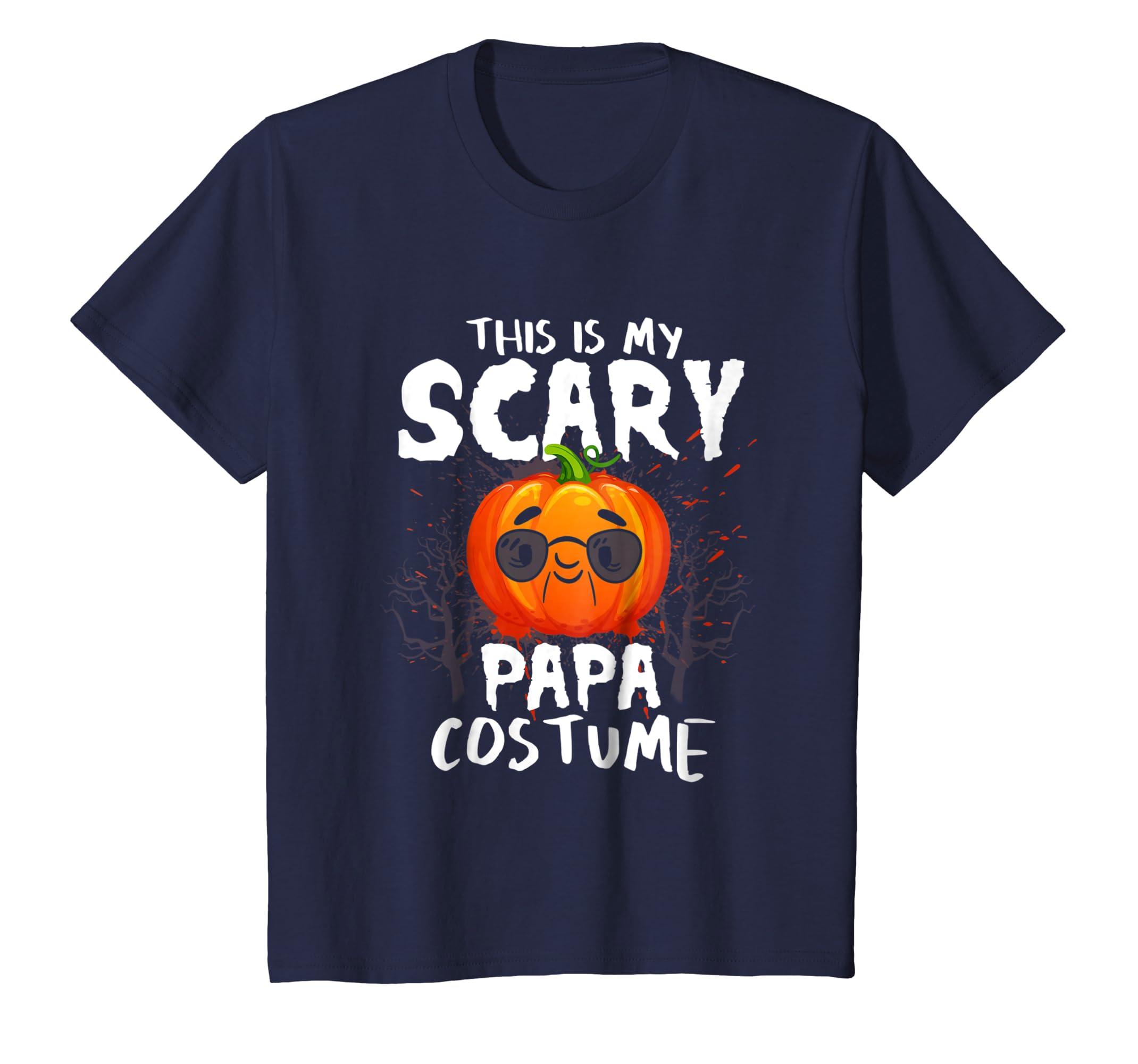 This Is My Scary Papa Costume Halloween Pumpkin Gift T Shirt-Teechatpro