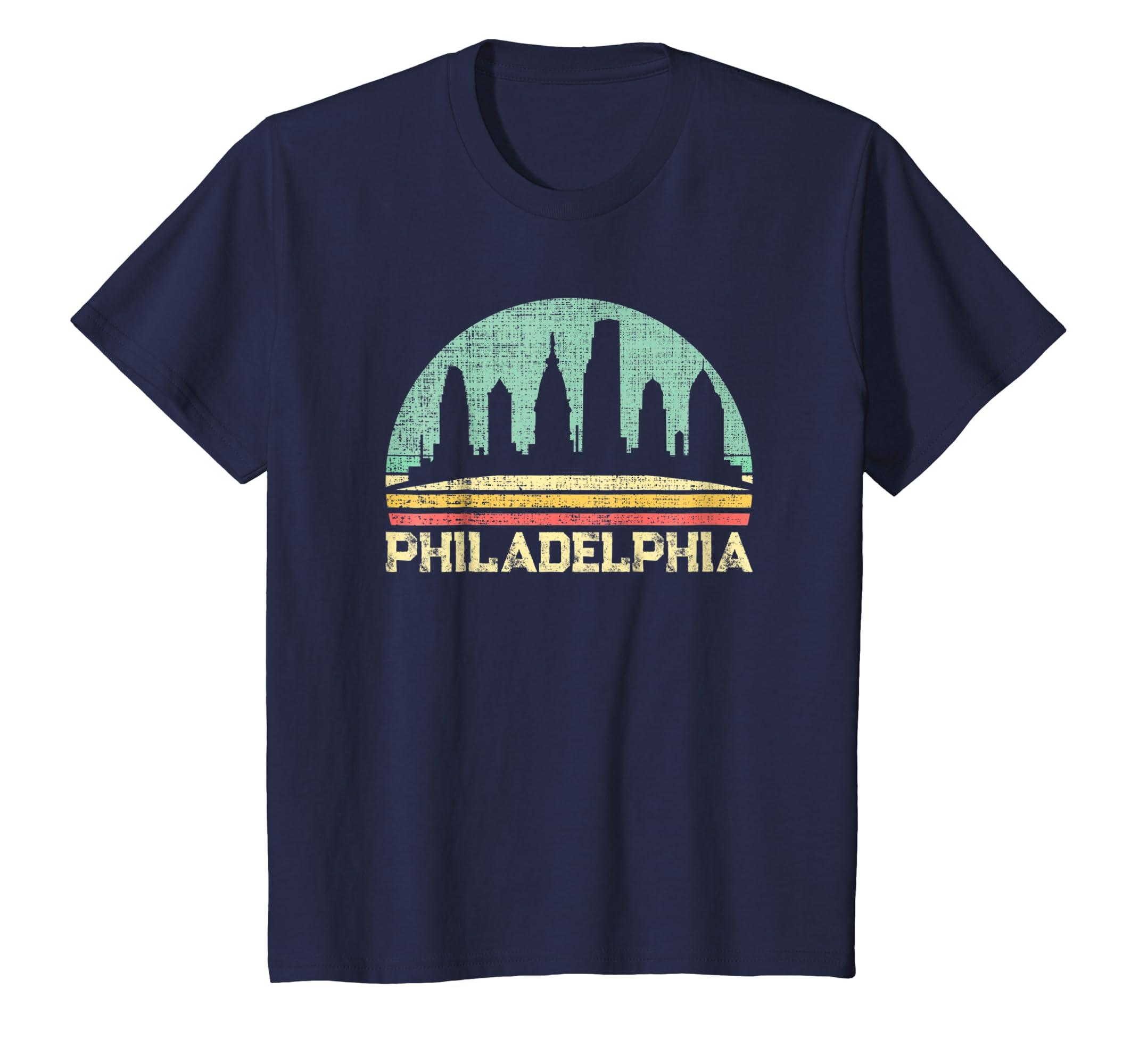 Classic Retro Vintage Philadelphia City Pennsylvania Tshirt-Teechatpro
