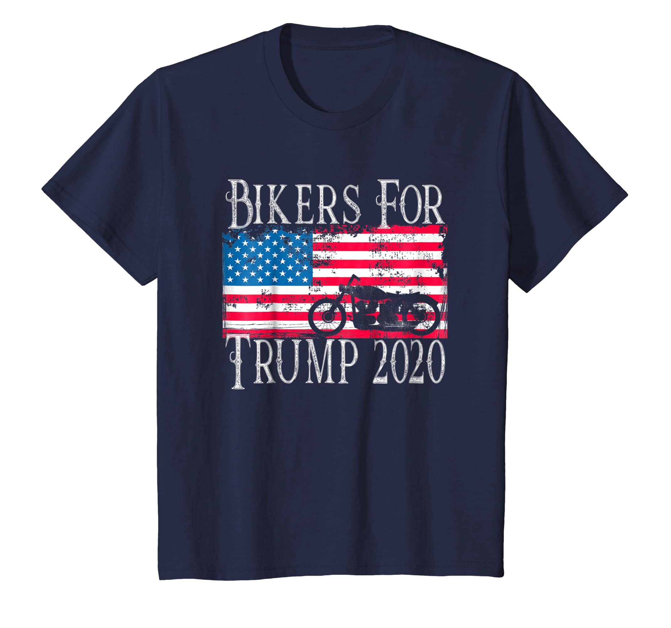 Bikers for Trump Shirt 2020 Motorcycle Rally Reelect Donald