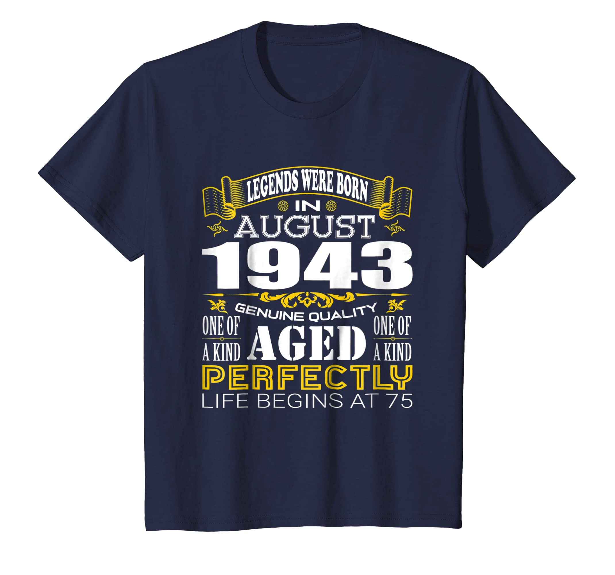 75th Birthday Gifts Vintage Legends Were Born In August 1943-Awarplus