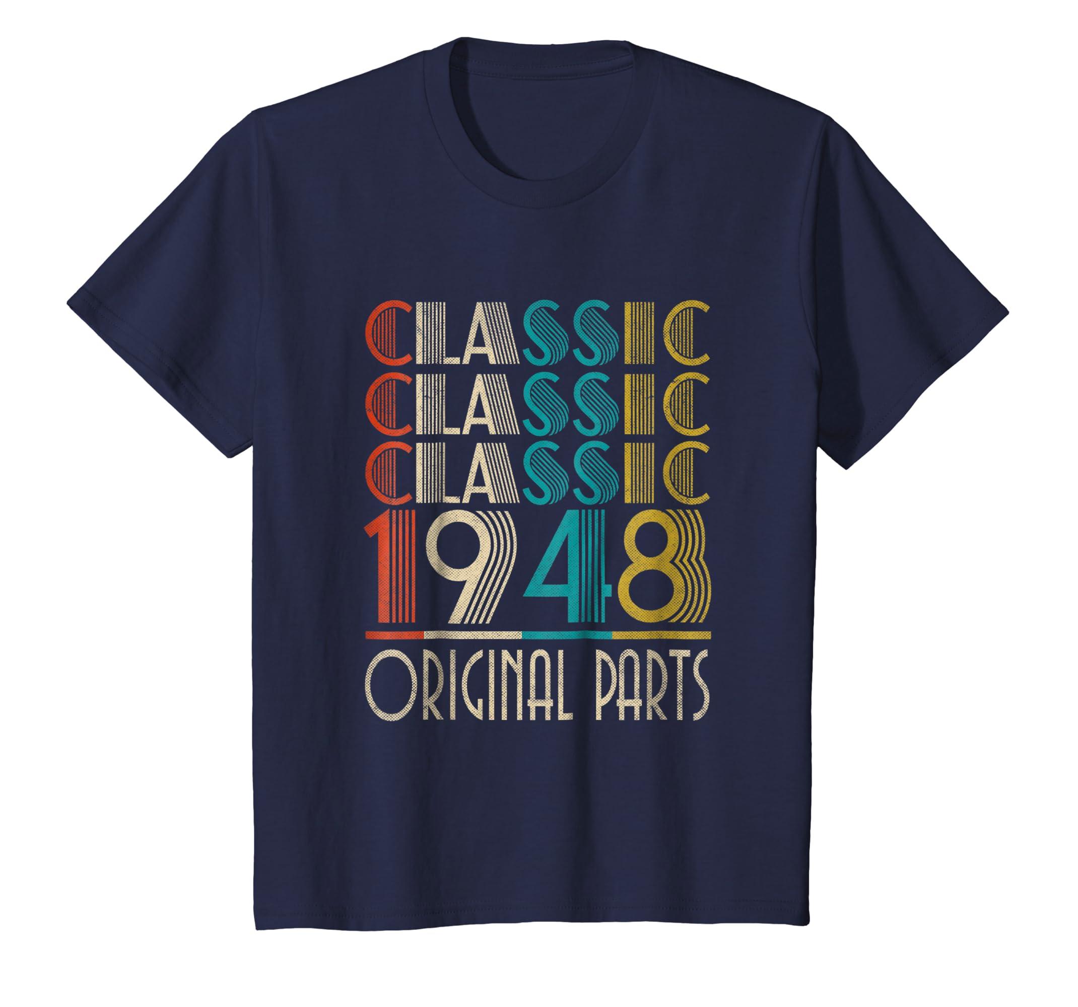 70th Birthday Classic Vintage 1948 T Shirt Gift