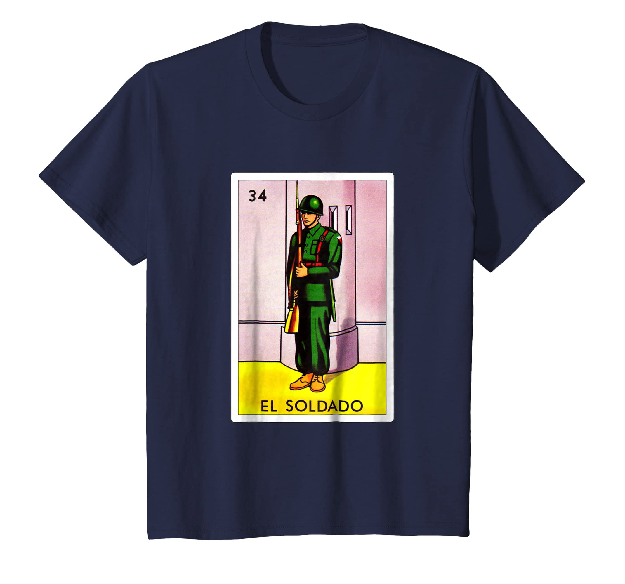 Amazon.com: Loteria Shirts - El Soldado T Shirt Classic Version: Clothing