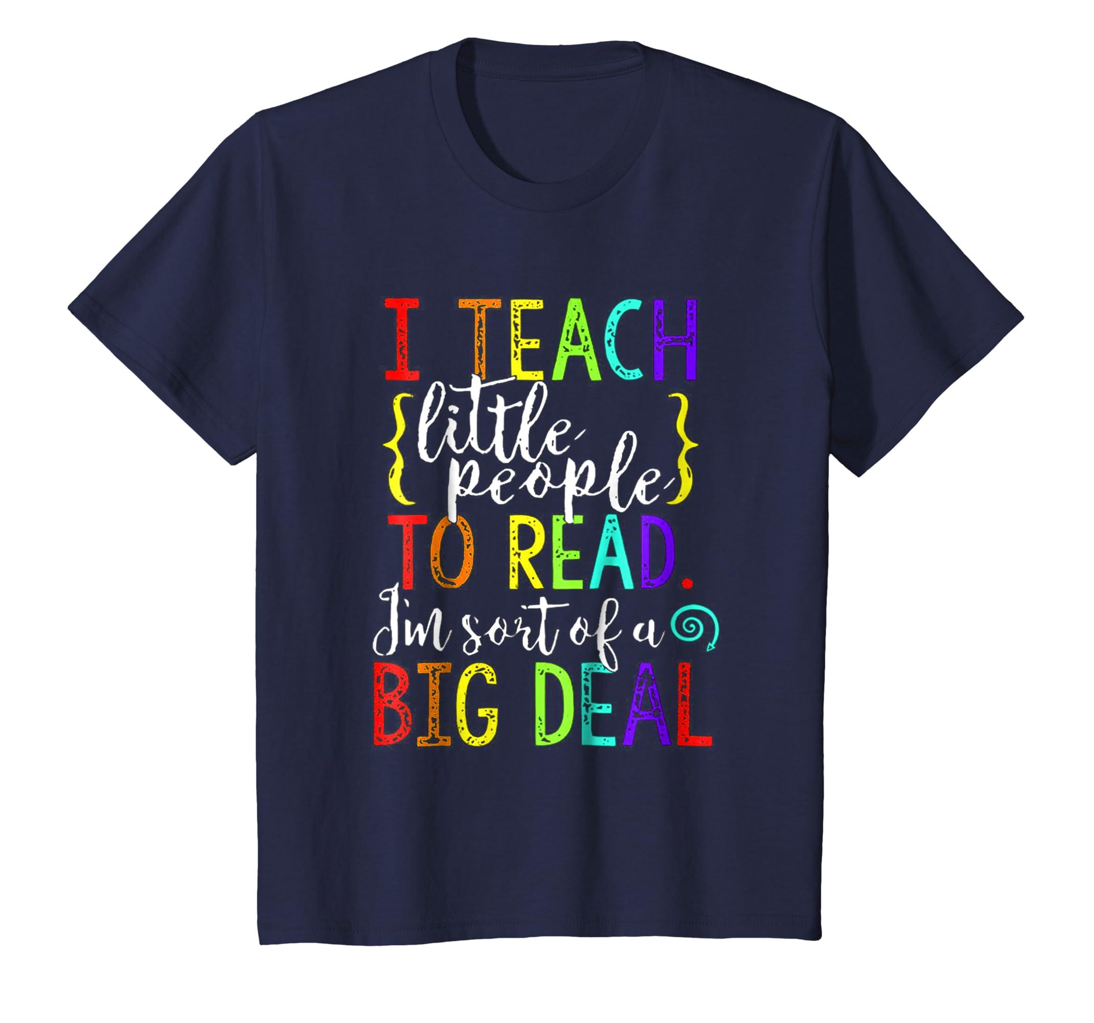 Cute Funny Reading Teacher Shirt Gifts I Teach Little Peopl-Newstyleth