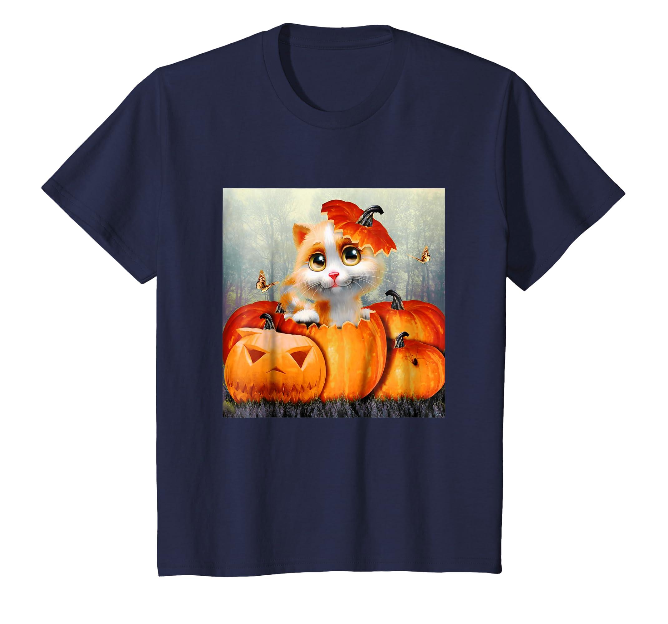 2018 Halloween Shirt Cat Halloween Shirt Pumpkin Halloween