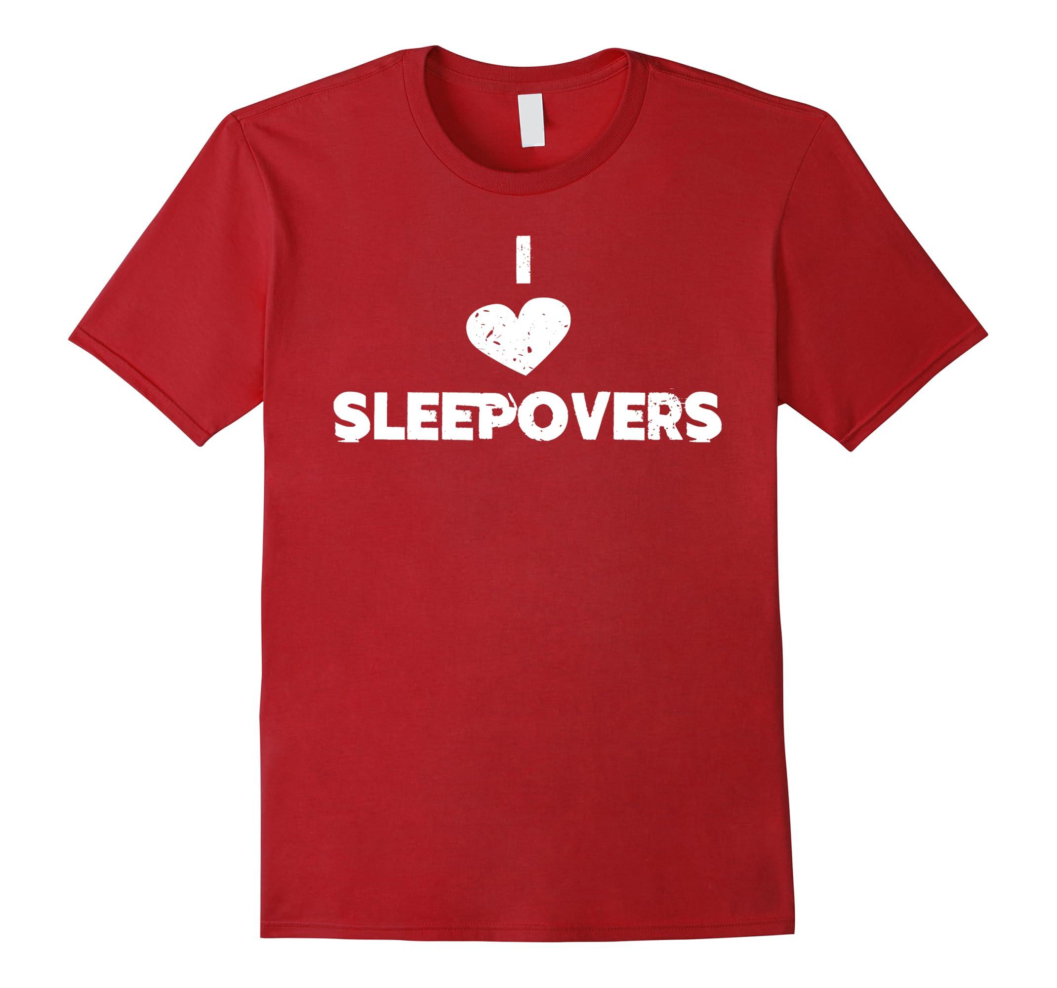 SLEEPOVER BIRTHDAY T-SHIRT SLEEPOVER PARTY-RT