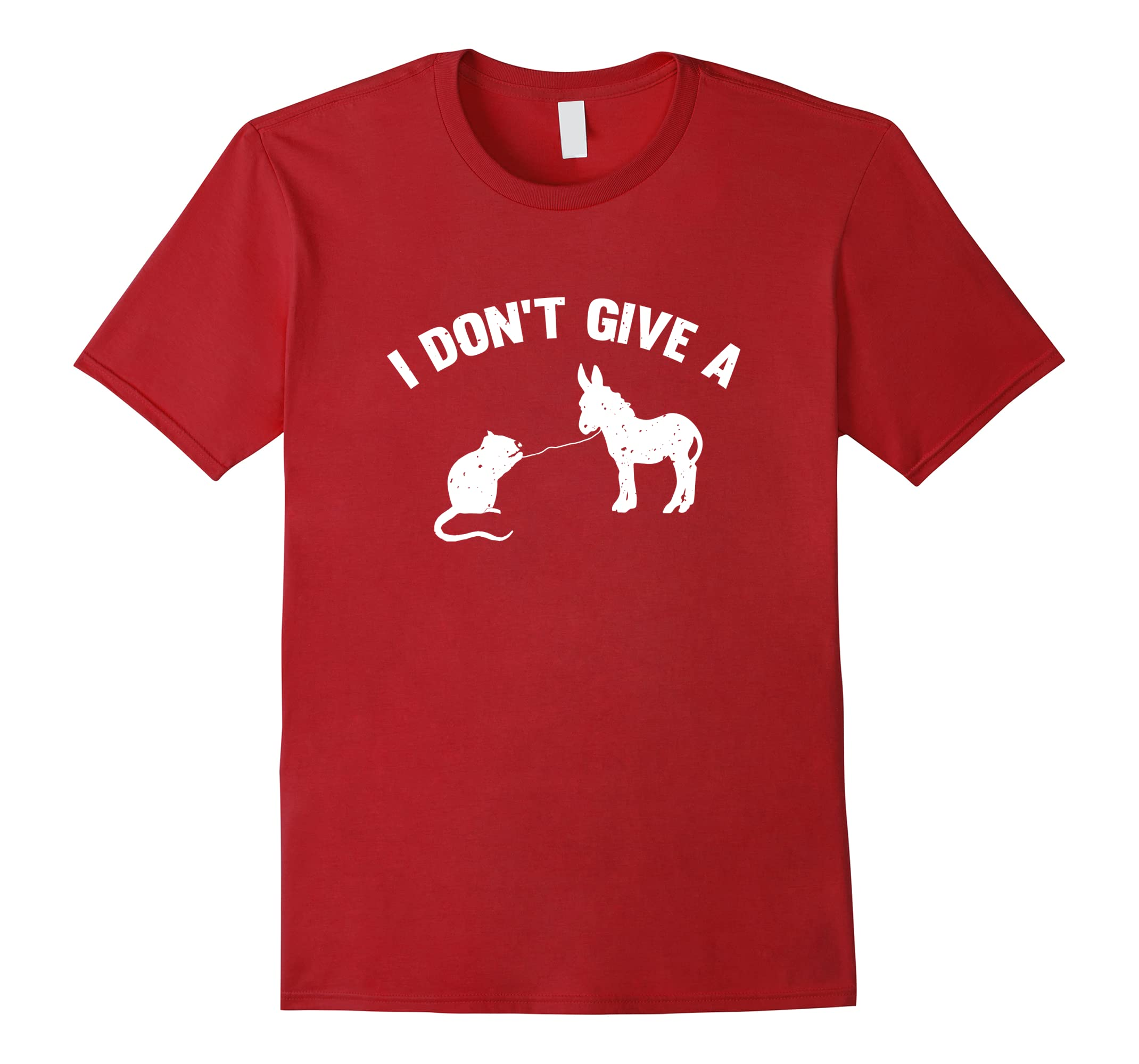 I Don't Give A Rats Ass Distressed T-Shirt-RT