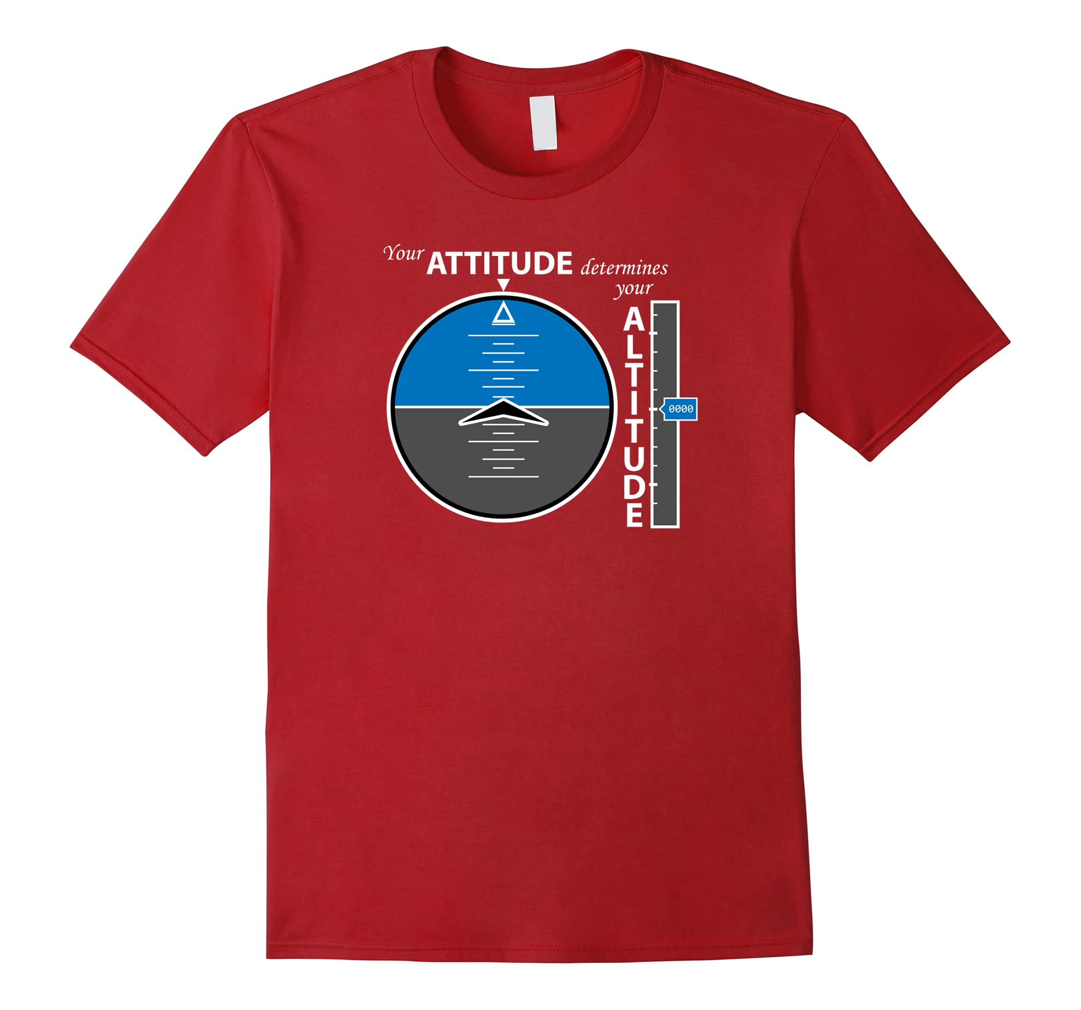 Attitude Altitude Aviation T-shirt with a positive message-ah my shirt one gift