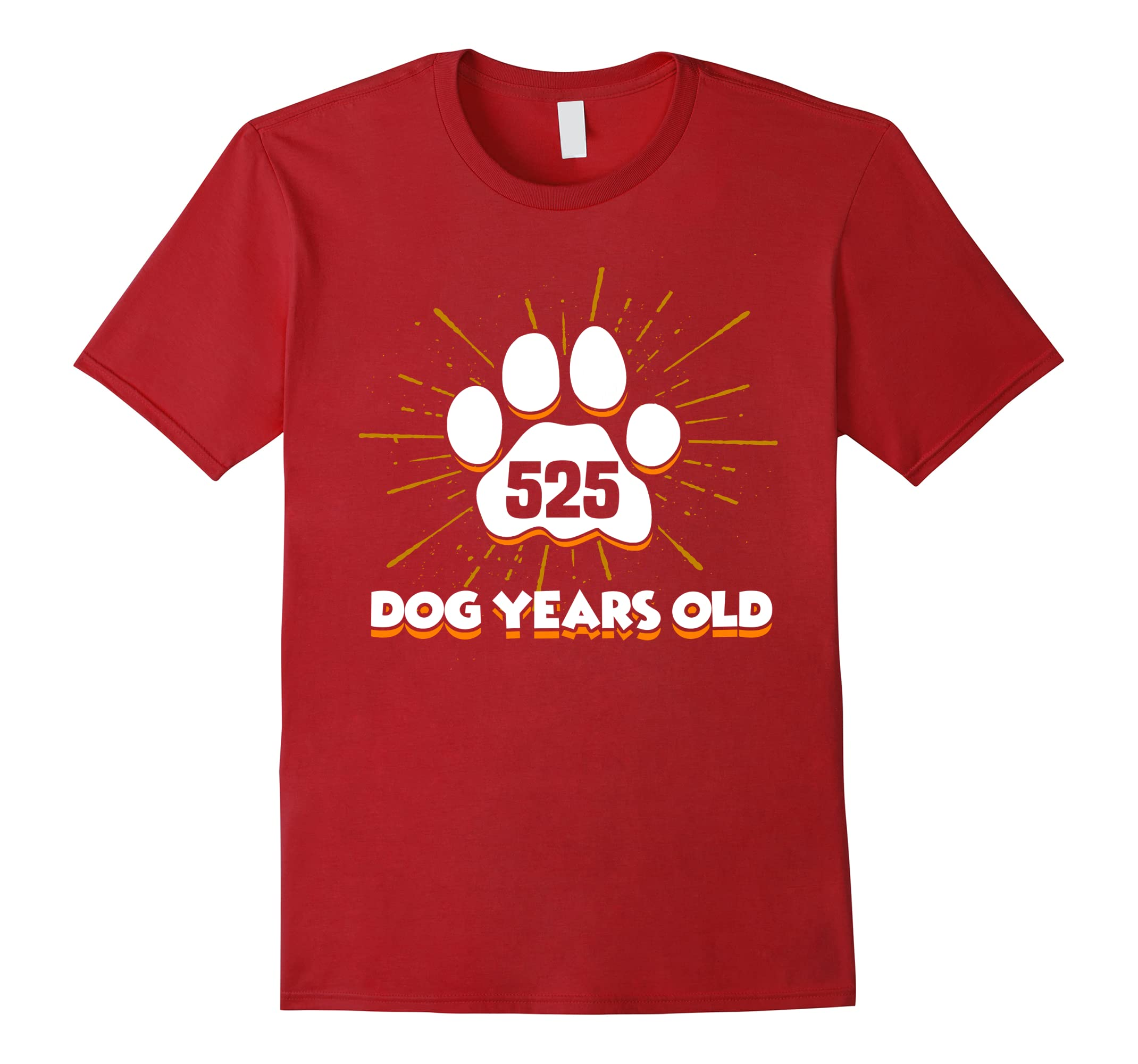 525 Dogs Years Old T Shirt 75th Birthday For Dog Lover RT