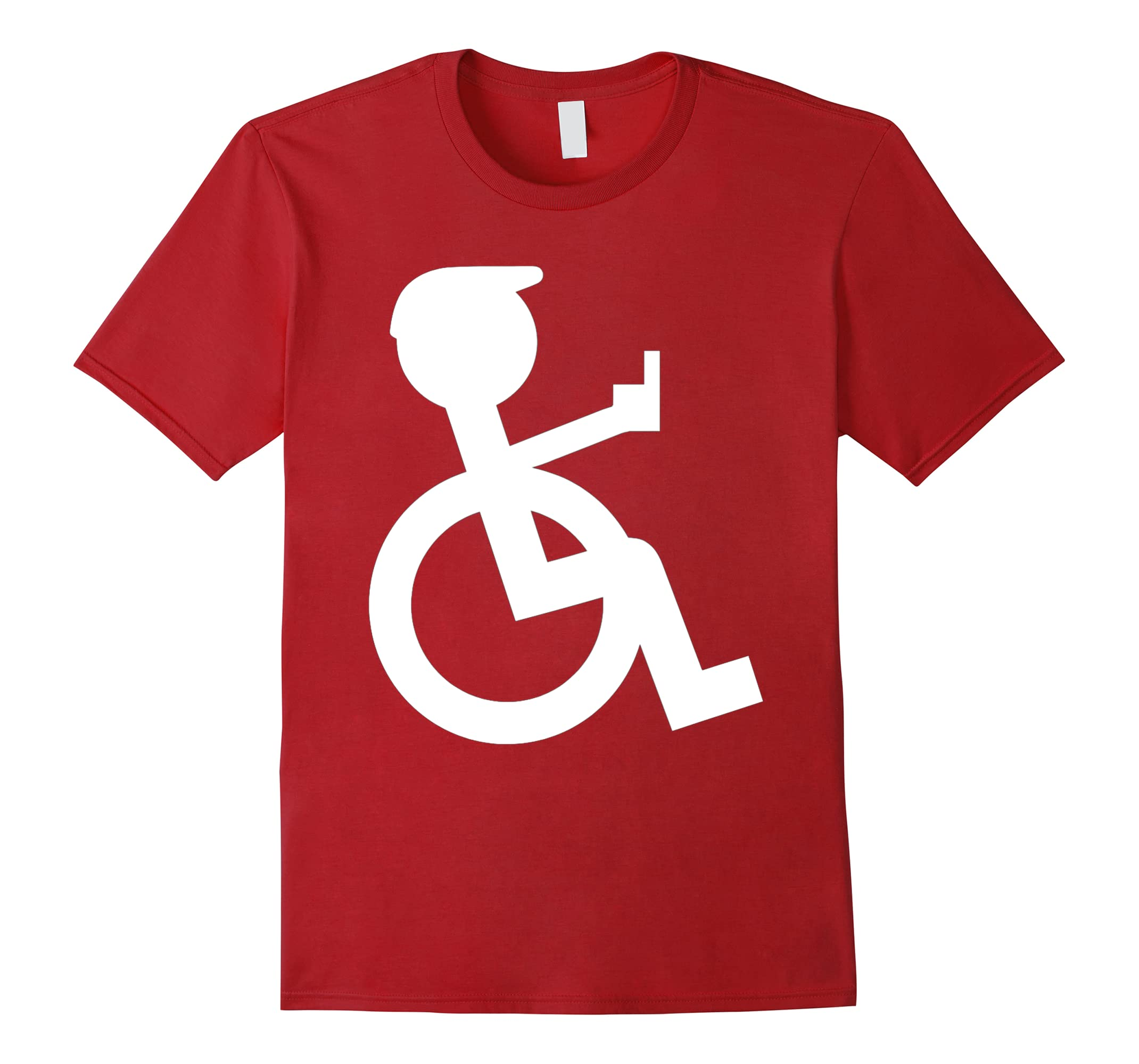 wheelchair driver with stickefinger stinky finger T-Shirt-ah my shirt one gift