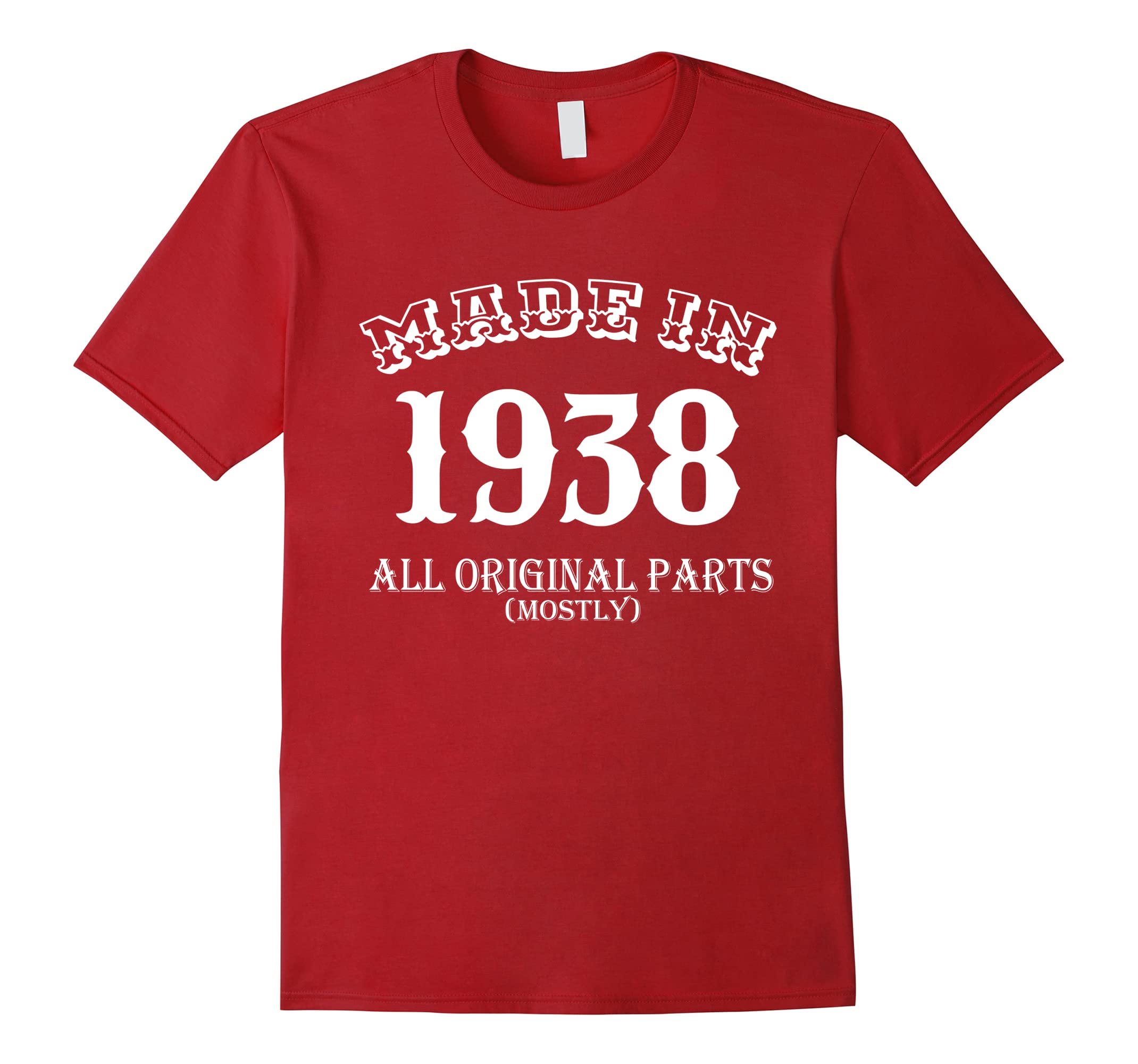 All Original Parts Birthday T Shirt