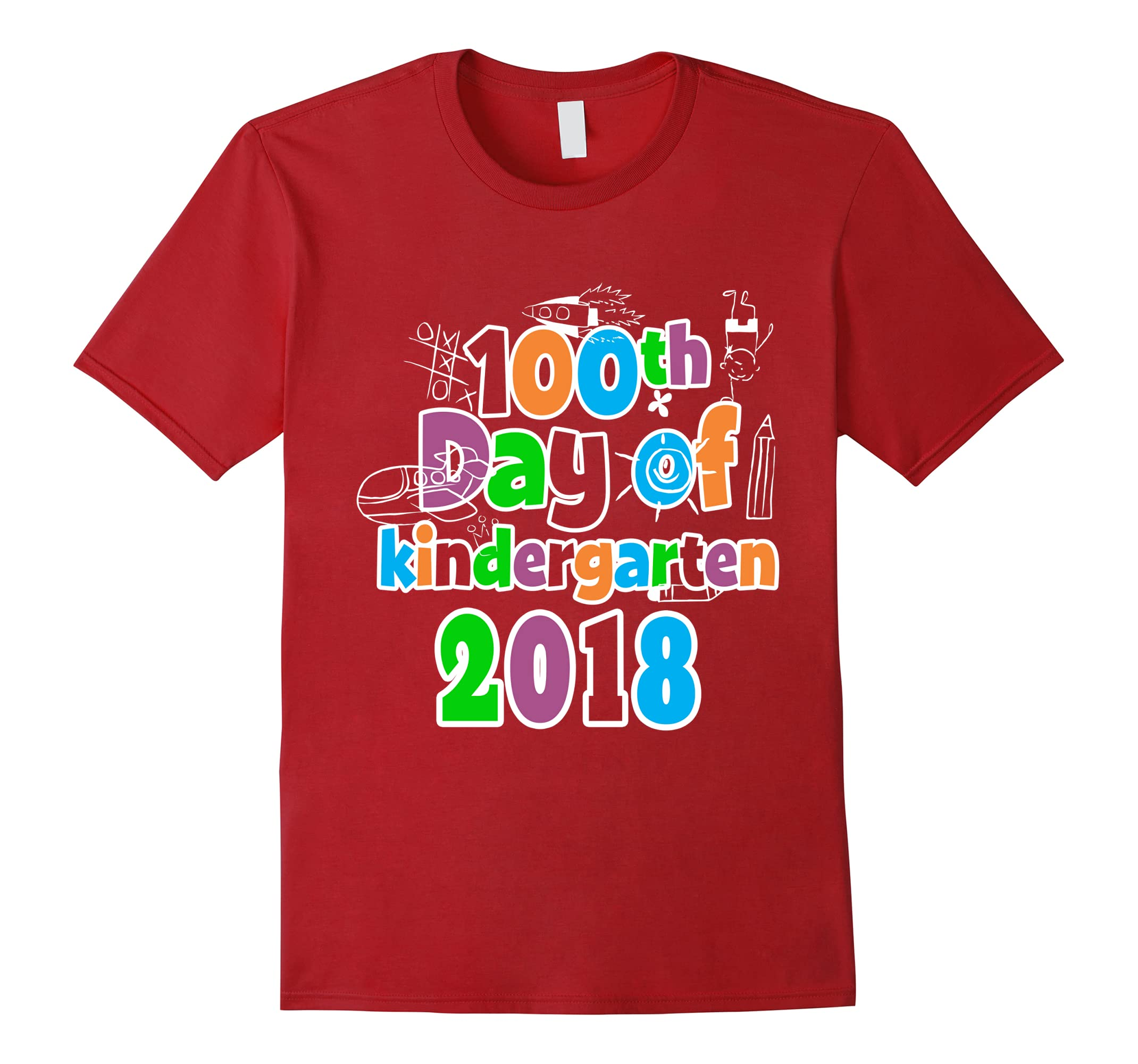 100th Day of Kindergarten Tshirt 2018 Tee 100 Days Smarter-RT