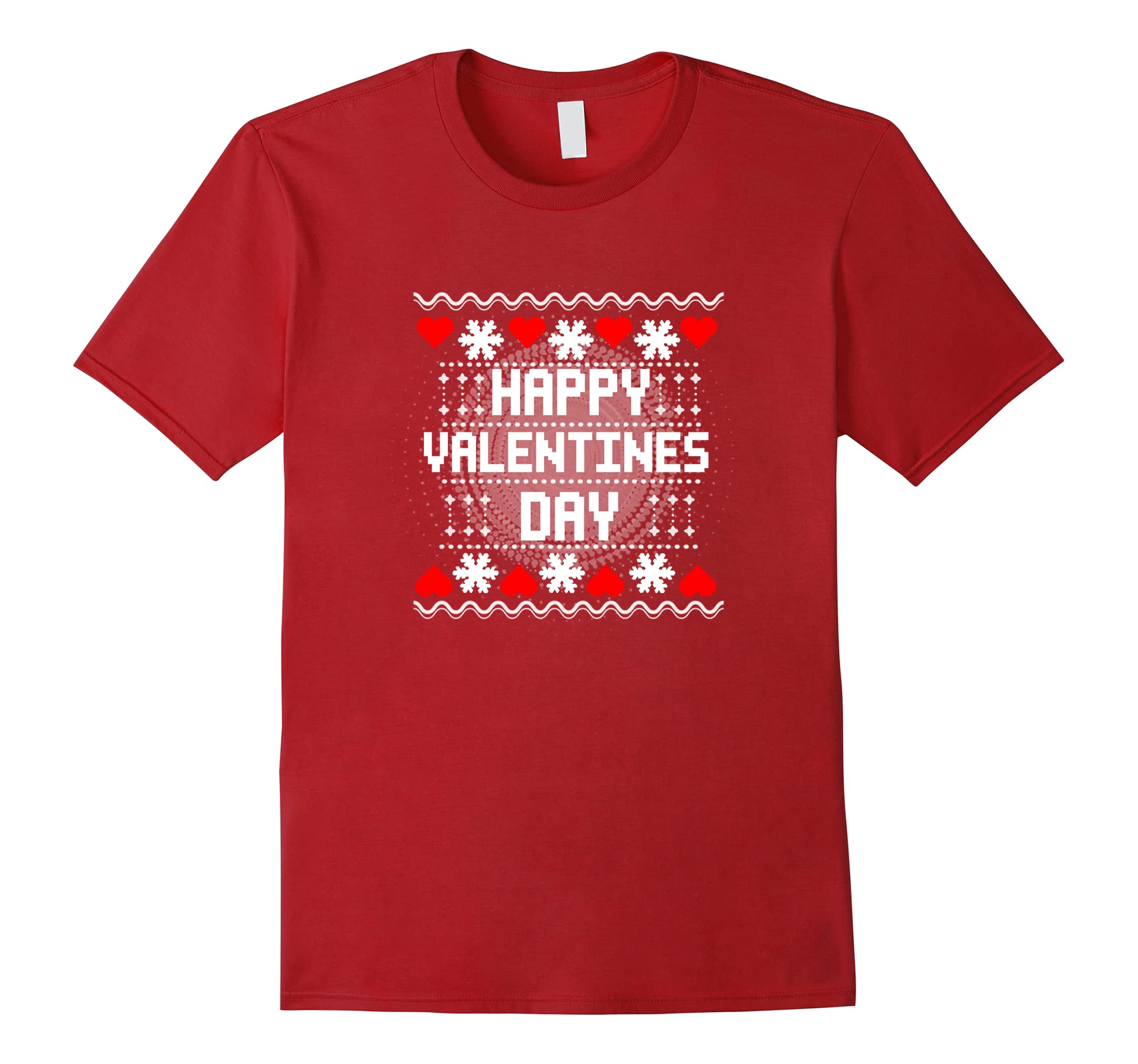 Happy Valentines Day Winter Graphic T-Shirt-RT