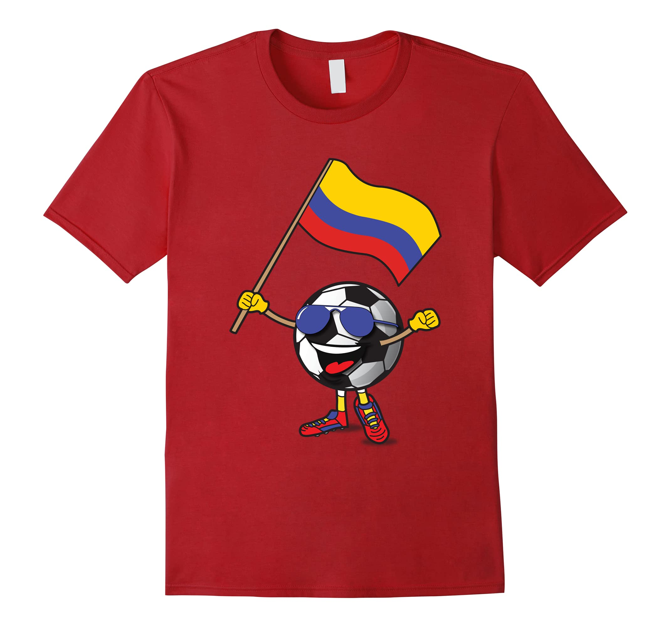 Colombia National Team Soccer Ball Fan Shirt For Boys Girls-RT
