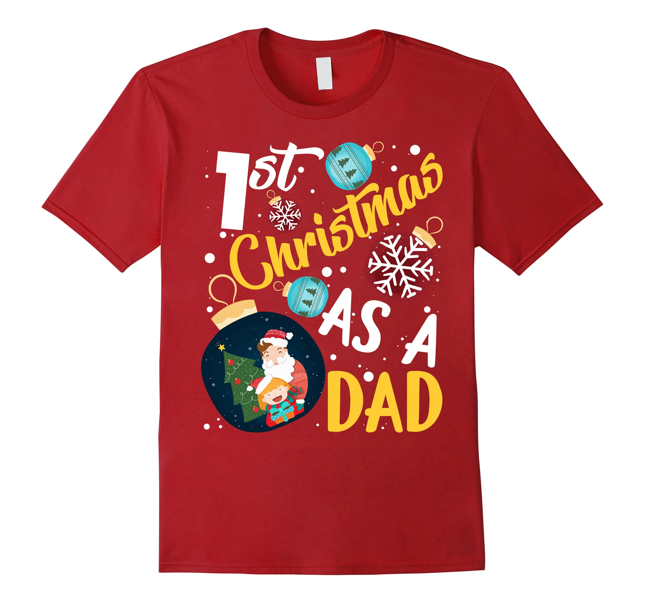 Mens Christmas Gifts T shirt Daddy-Veotee