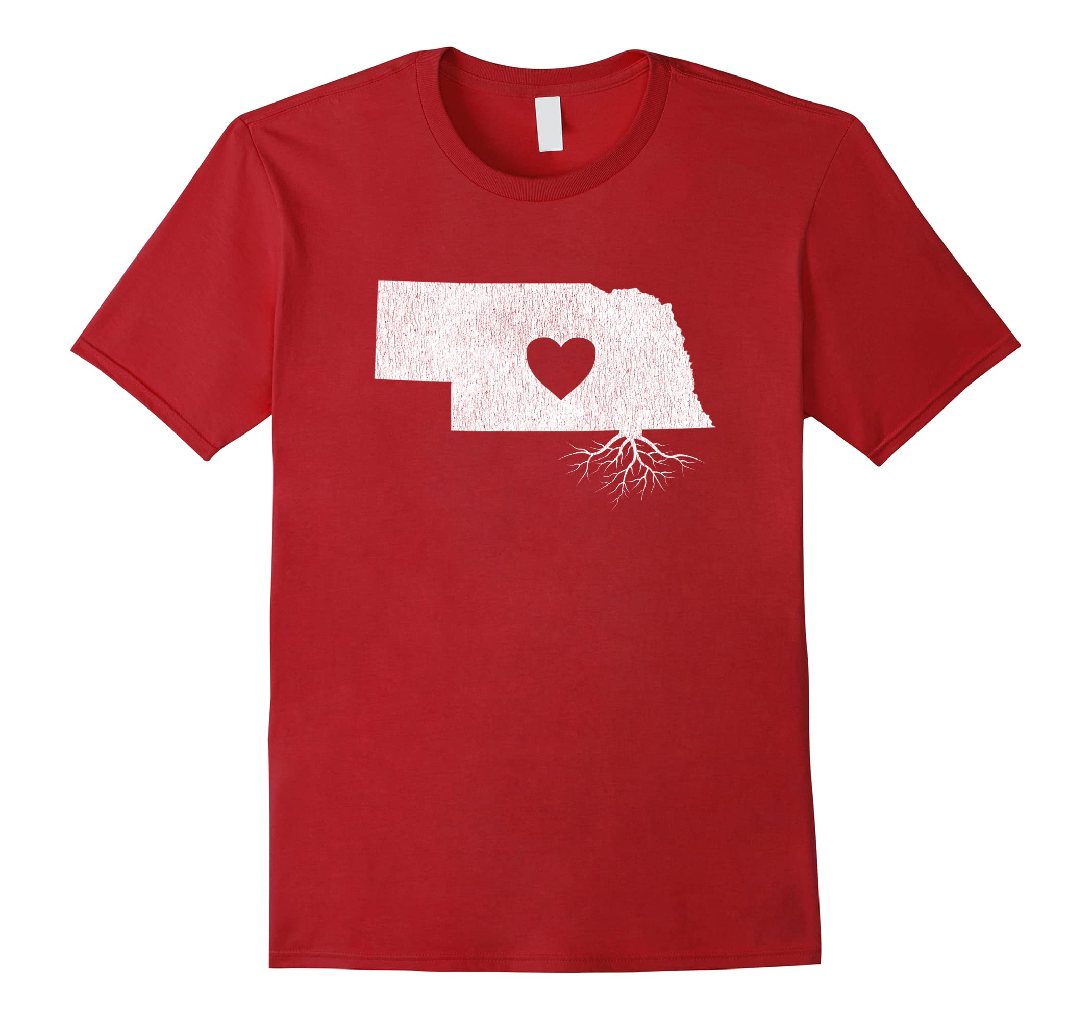 Distressed Nebraska Heart Roots Shirt-Teesml