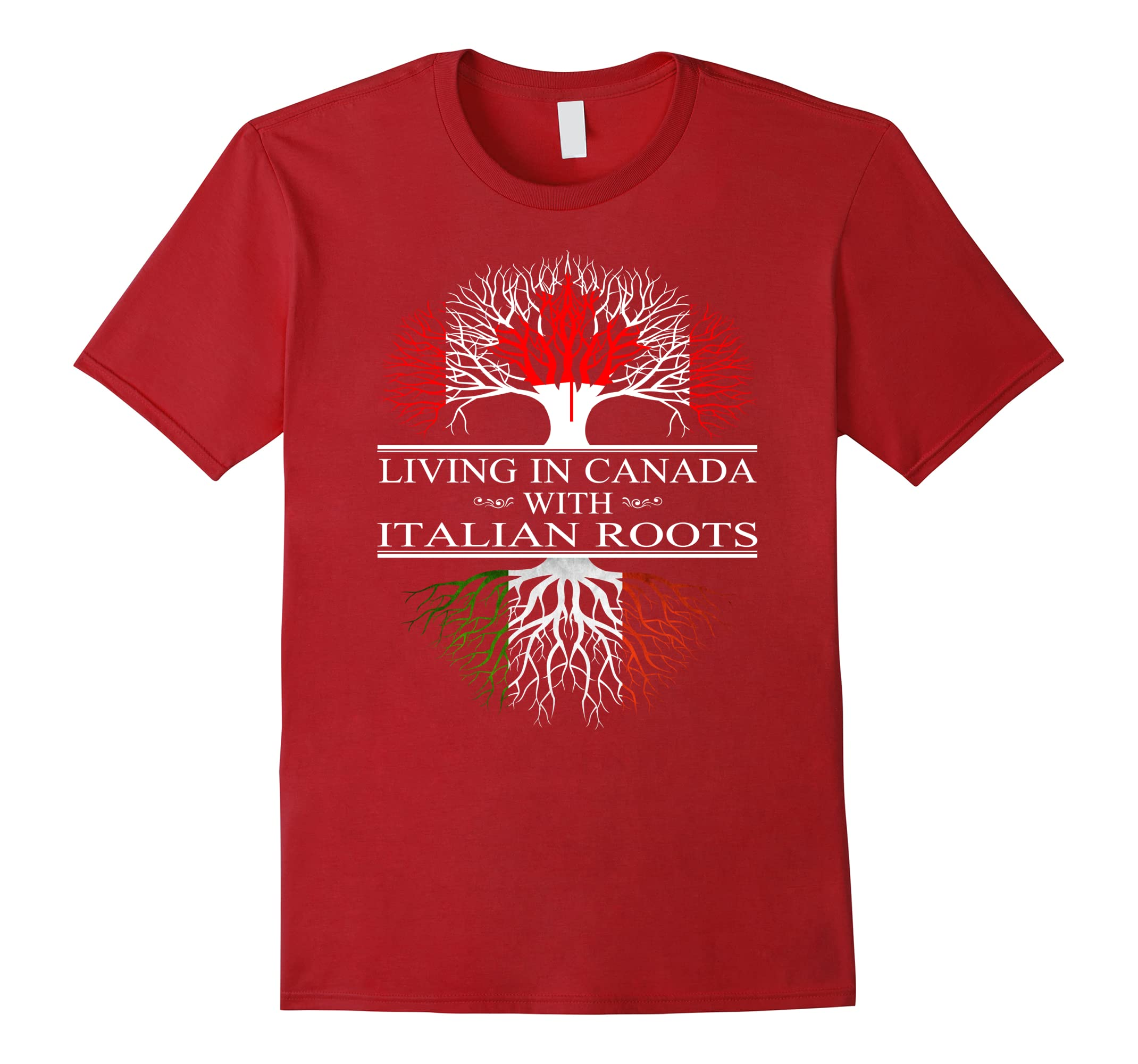 living in canada with italian roots Tshirt