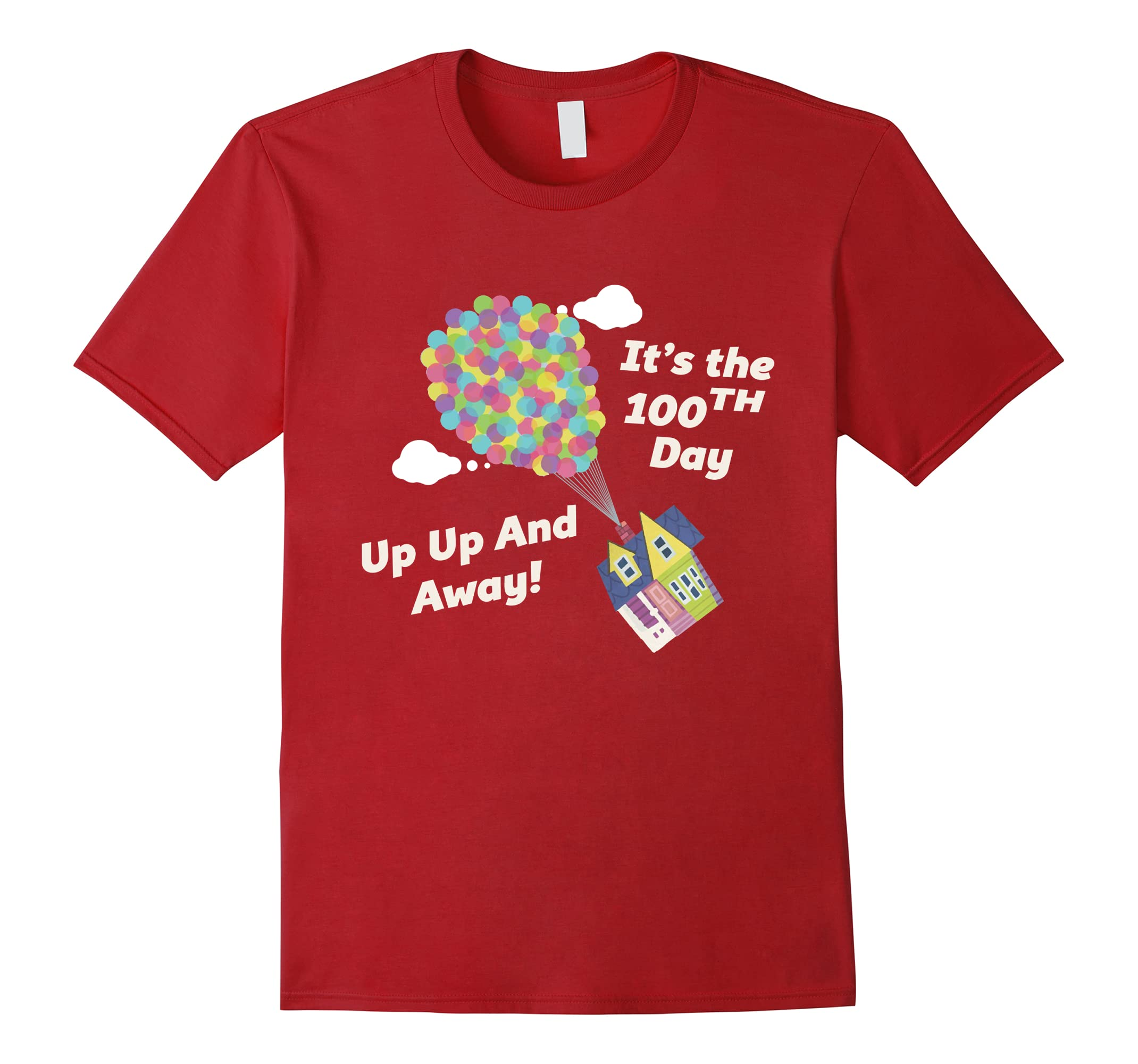 e79f4a99021 Up and Away Balloon One Hundred Days Of School Cute Gift Tee-ah my shirt