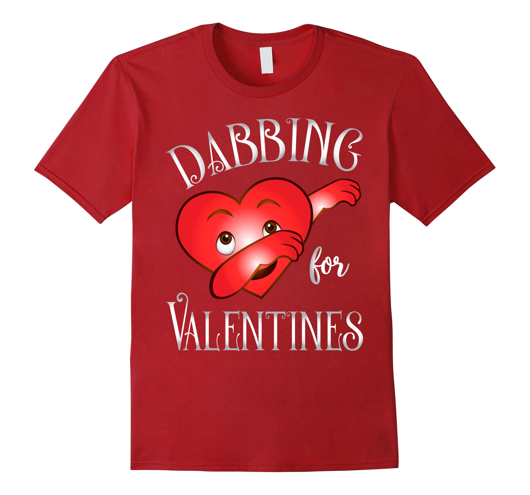 Cute and Funny Dabbing For Valentines Day Heart Love T-Shirt-RT