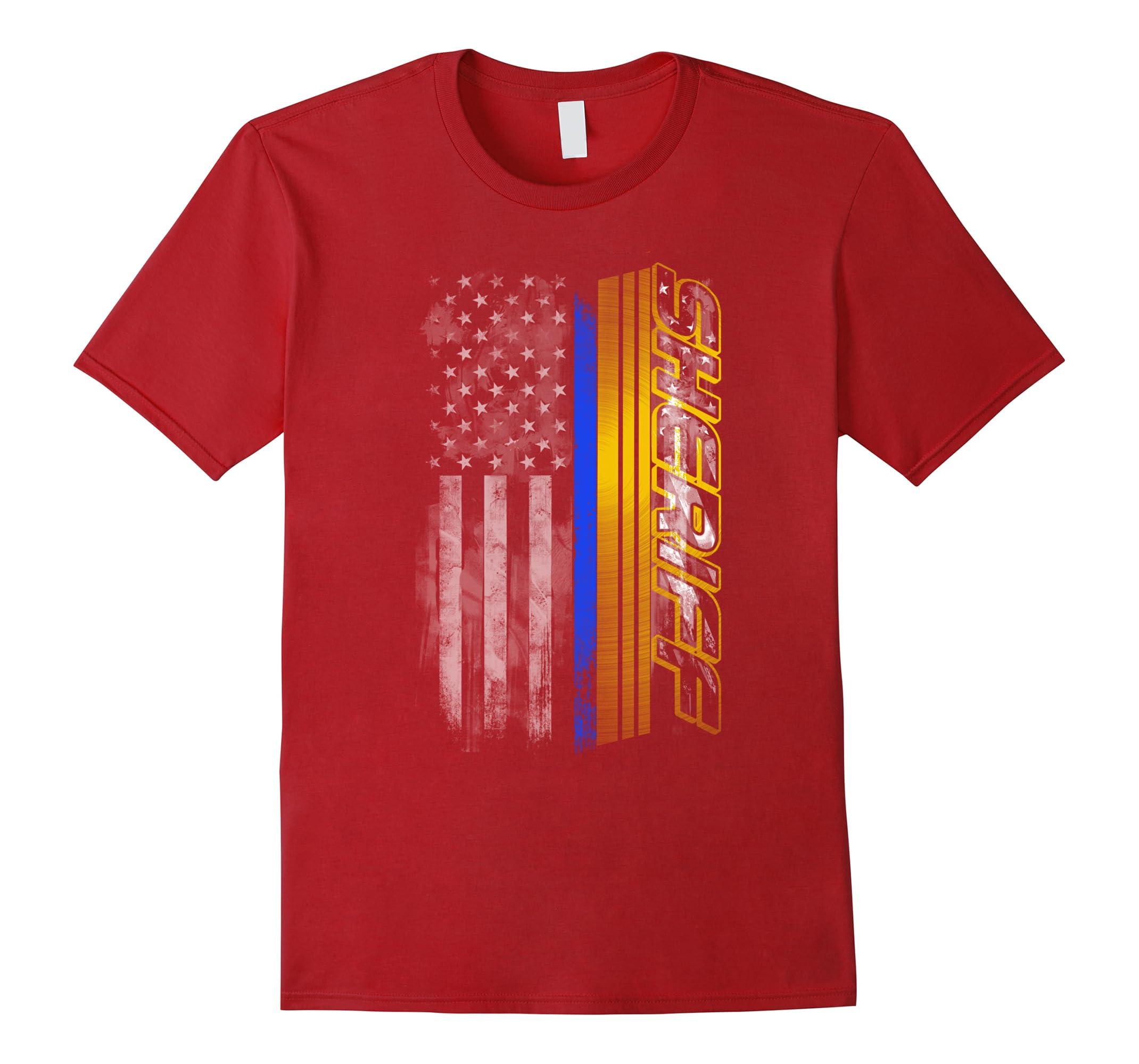Thin Blue Line Sheriff Flag T-Shirt-RT