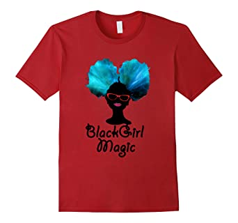 33b59820 Image Unavailable. Image not available for. Color: Black Girl Magic Afro  Puff T-Shirt