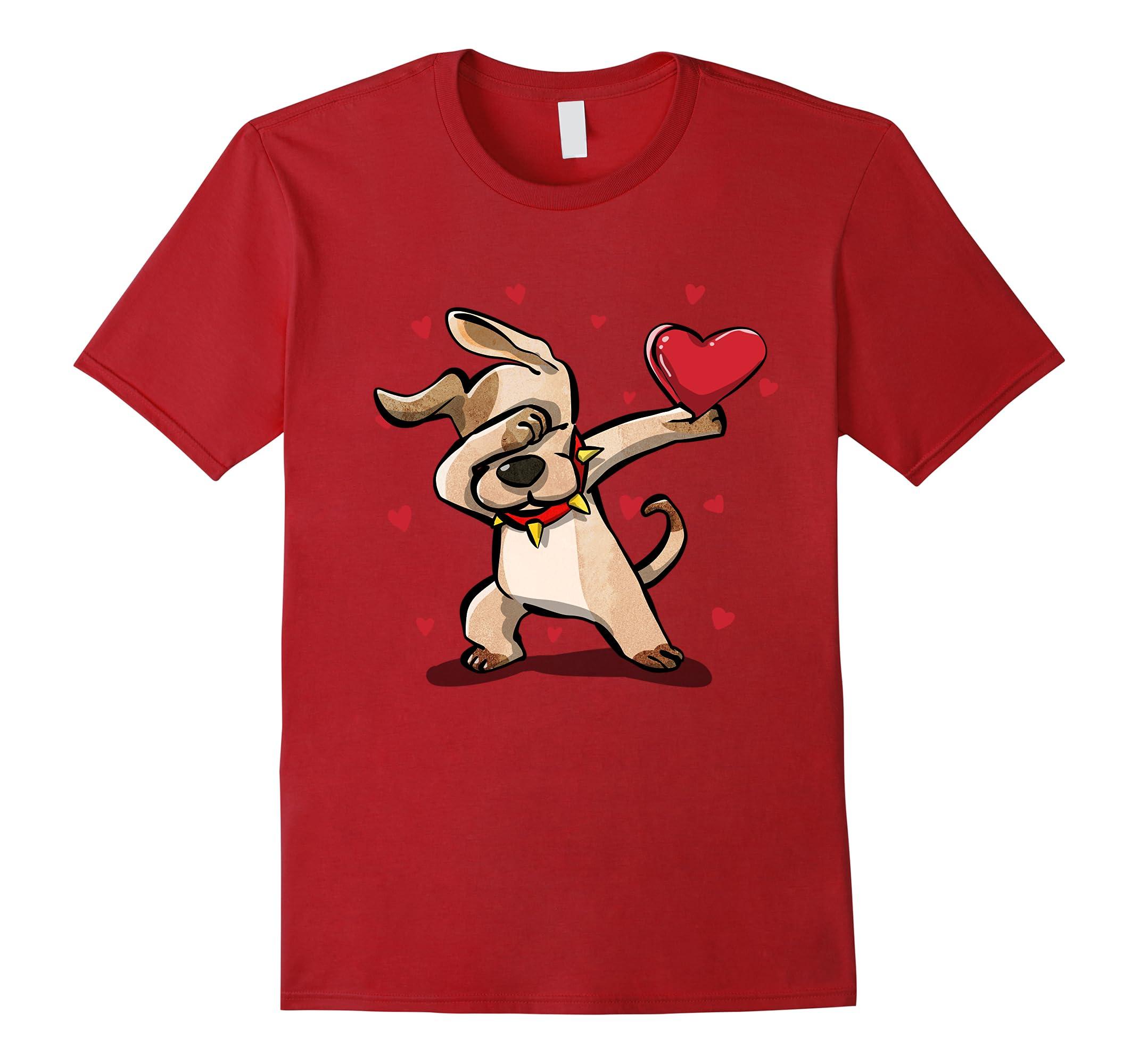 Funny Dabbing Dog Shirt Valentines