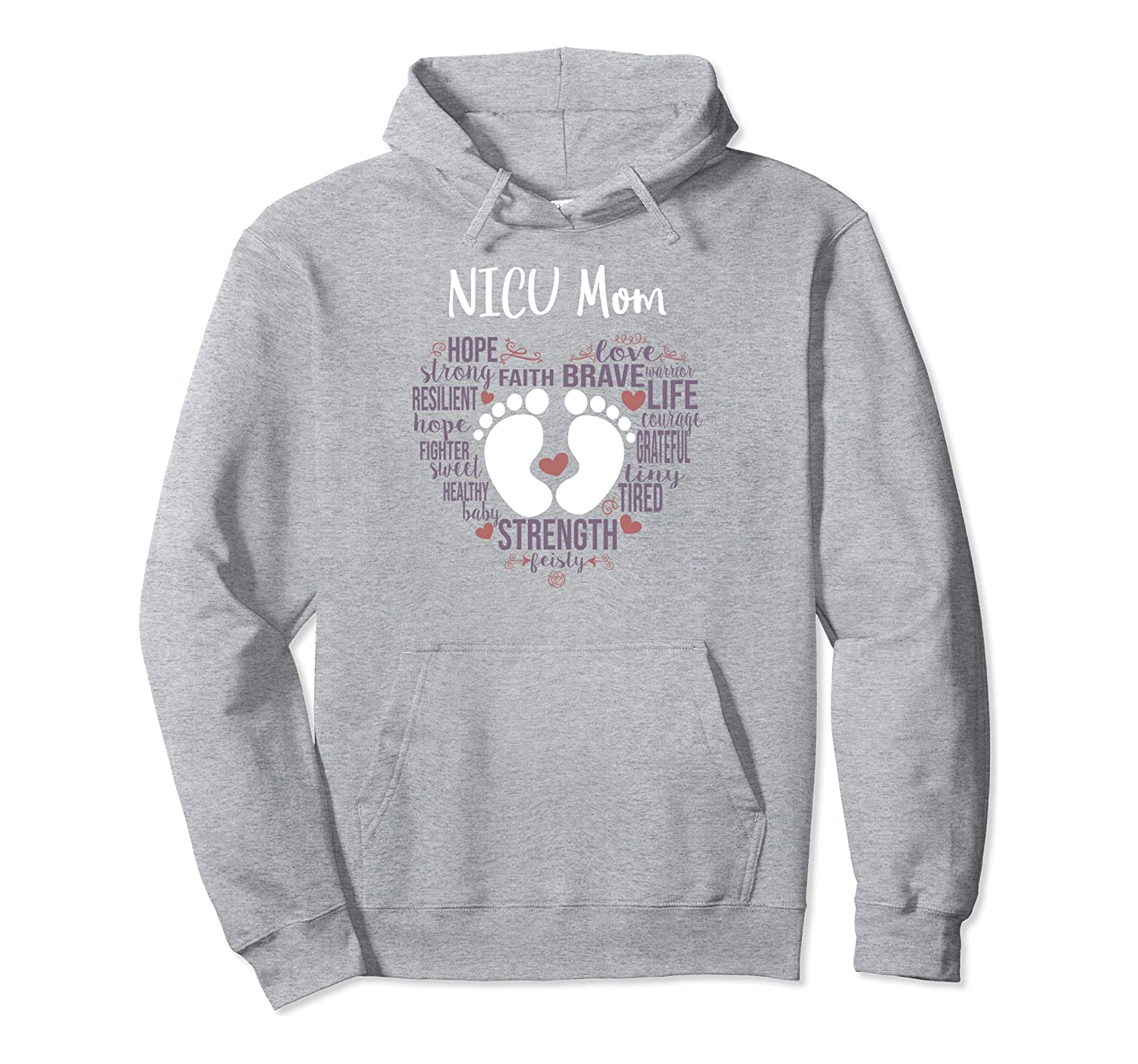 """NICU Mom"" Preemie or NICU Awareness Month for Mommy Mama Pullover Hoodie"