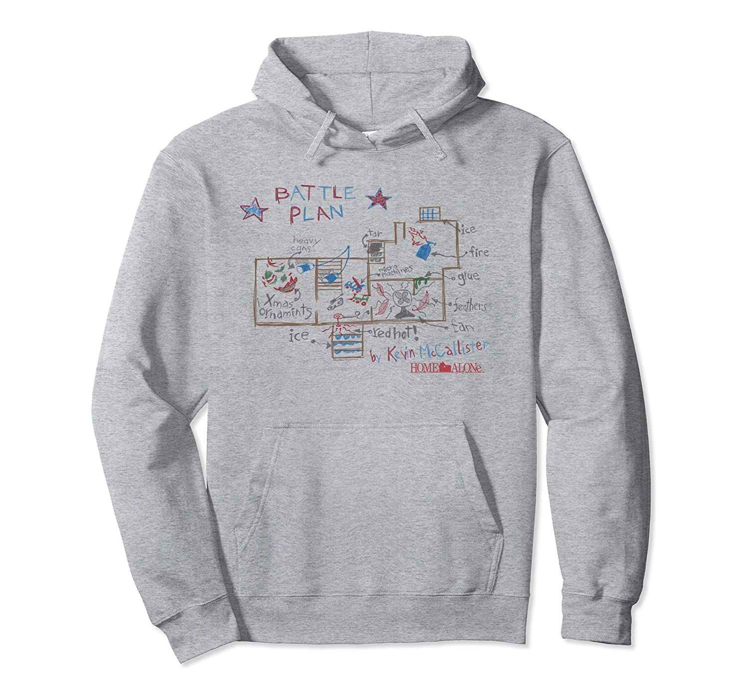 Home Alone Battle Plans Pullover Hoodie Pullover Hoodie