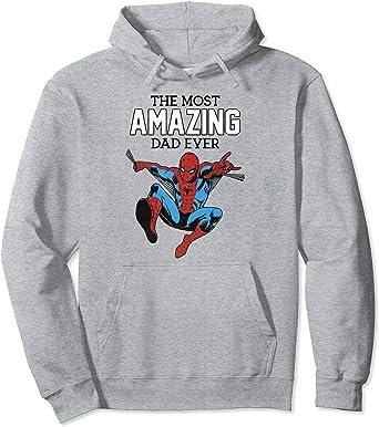 Marvel Spider-Man The Most Amazing Dad Ever Portrait Sweat à Capuche