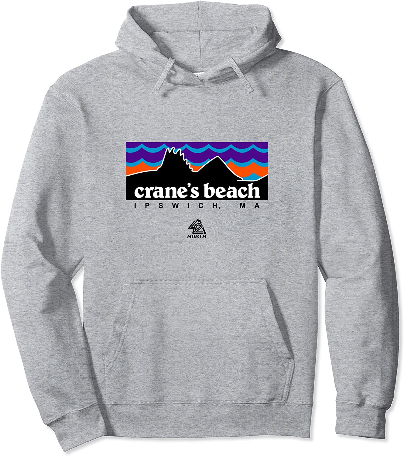 42 NORTH Crane's Beach Pullover Waves Hoodie famous New Shipping Free Shipping