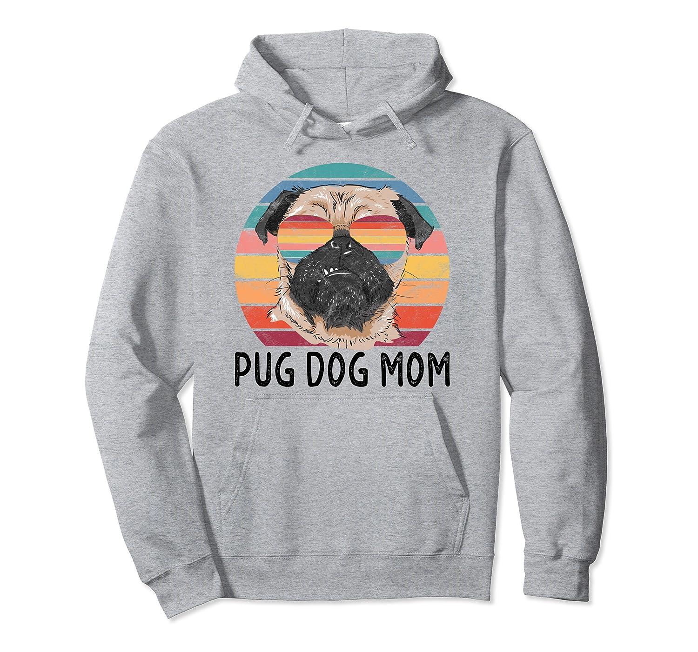 Pug Dog Mom Retro Vintage Gifts Pullover Hoodie