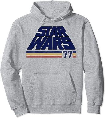 Star Wars Classic Retro Slanted Logo Striped '77 Sweat à Capuche