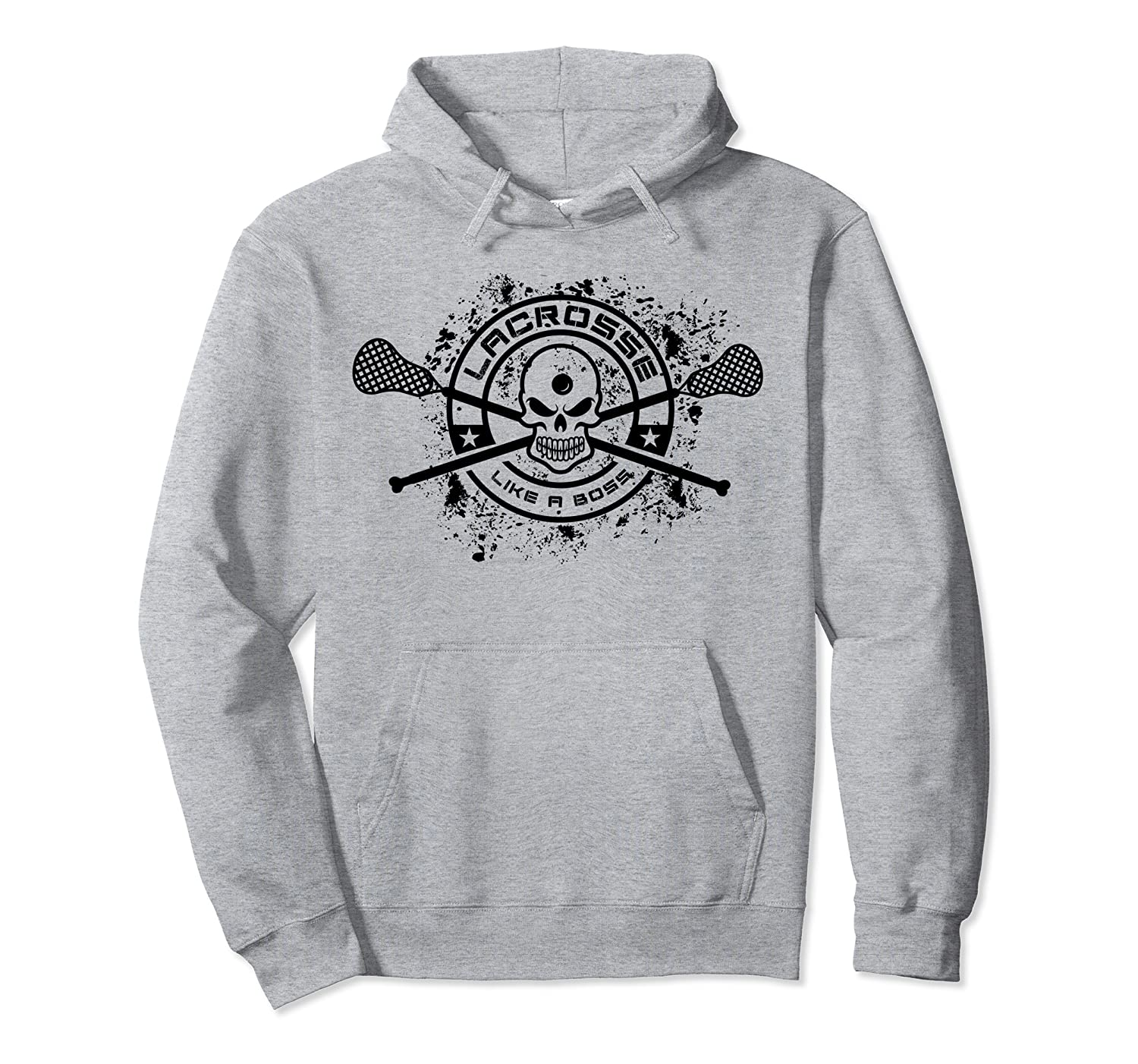 Lax with skulls and Sticks, Lacrosse gift for fan or player Pullover Hoodie