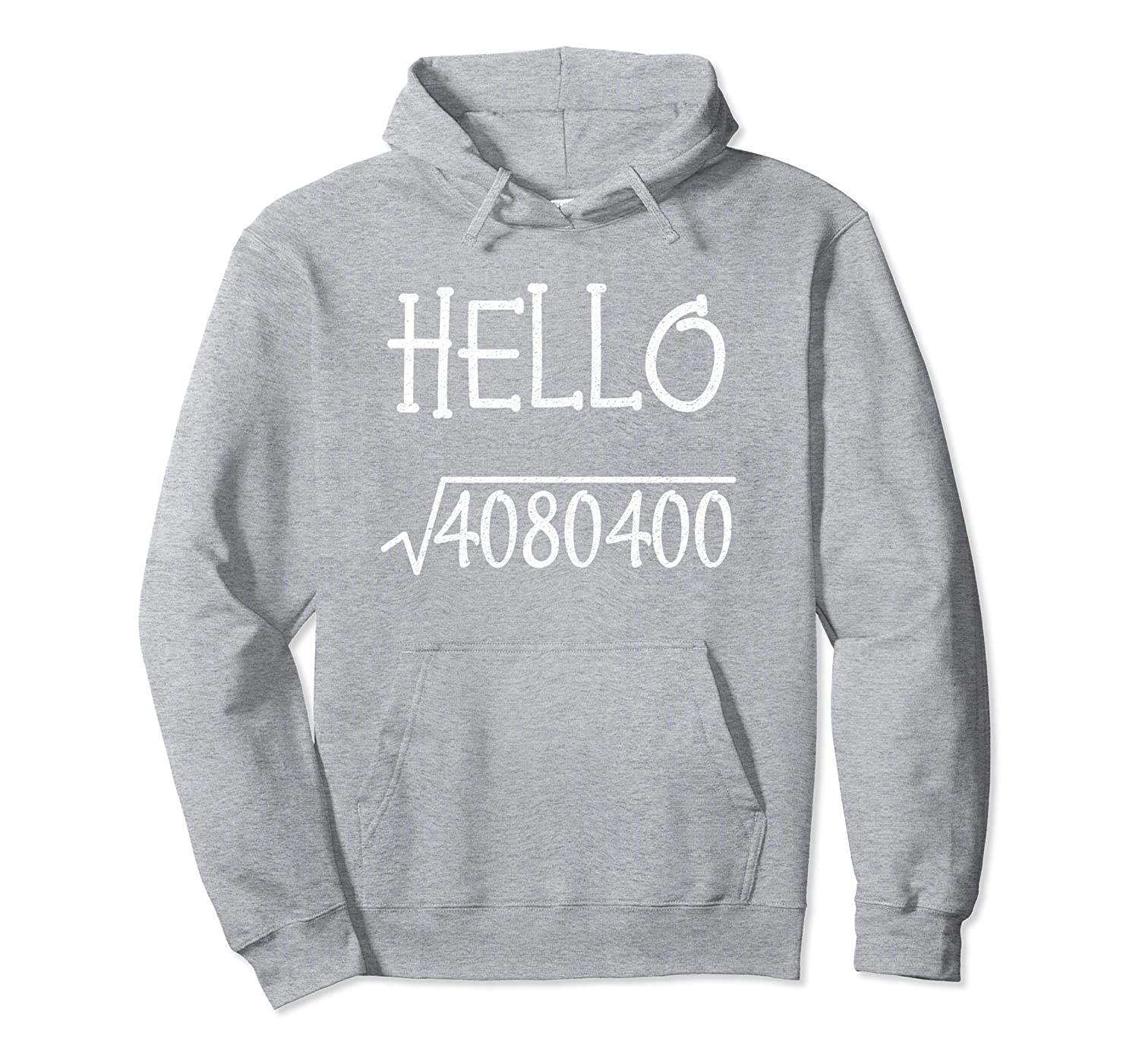 Hello 2020 New Year Square Root Kids Teachers Math Geeks Pullover Hoodie