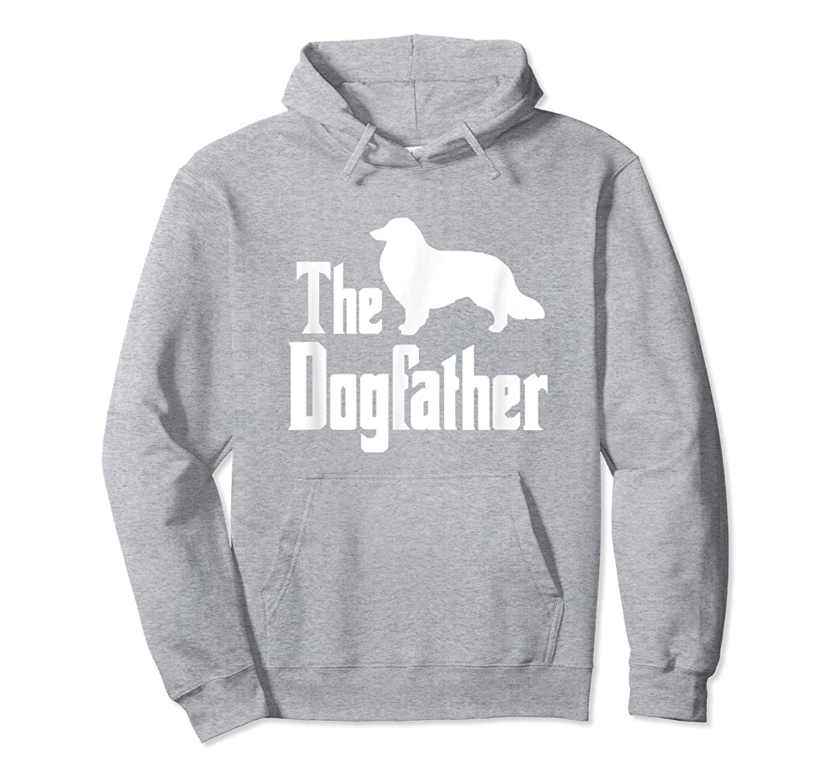 The Dogfather - funny Rough Collie T-Shirt, funny dog gift-Hoodie-Sport Grey
