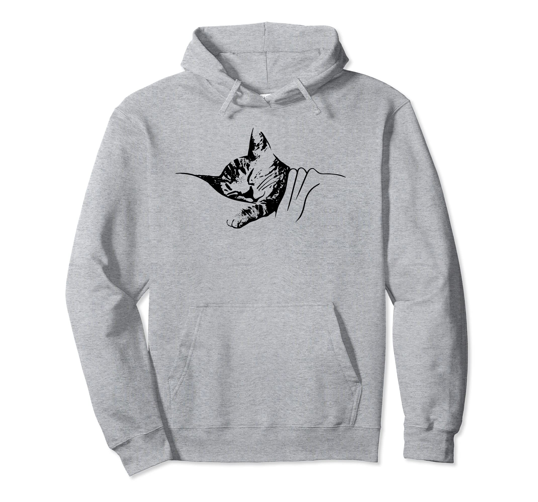 300e67345 Amazon.com  Cute Cat Hoodie - Sleeping Kitten - Cat Lover Gift  Clothing