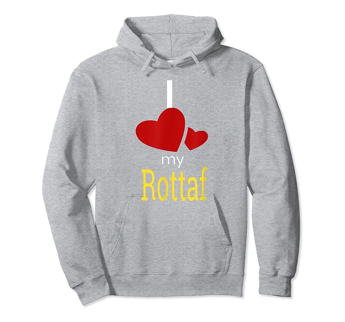 Rottaf Dog Shirt Love Rottweiler + Afghan Hound =  T-Shirt-Hoodie-Sport Grey